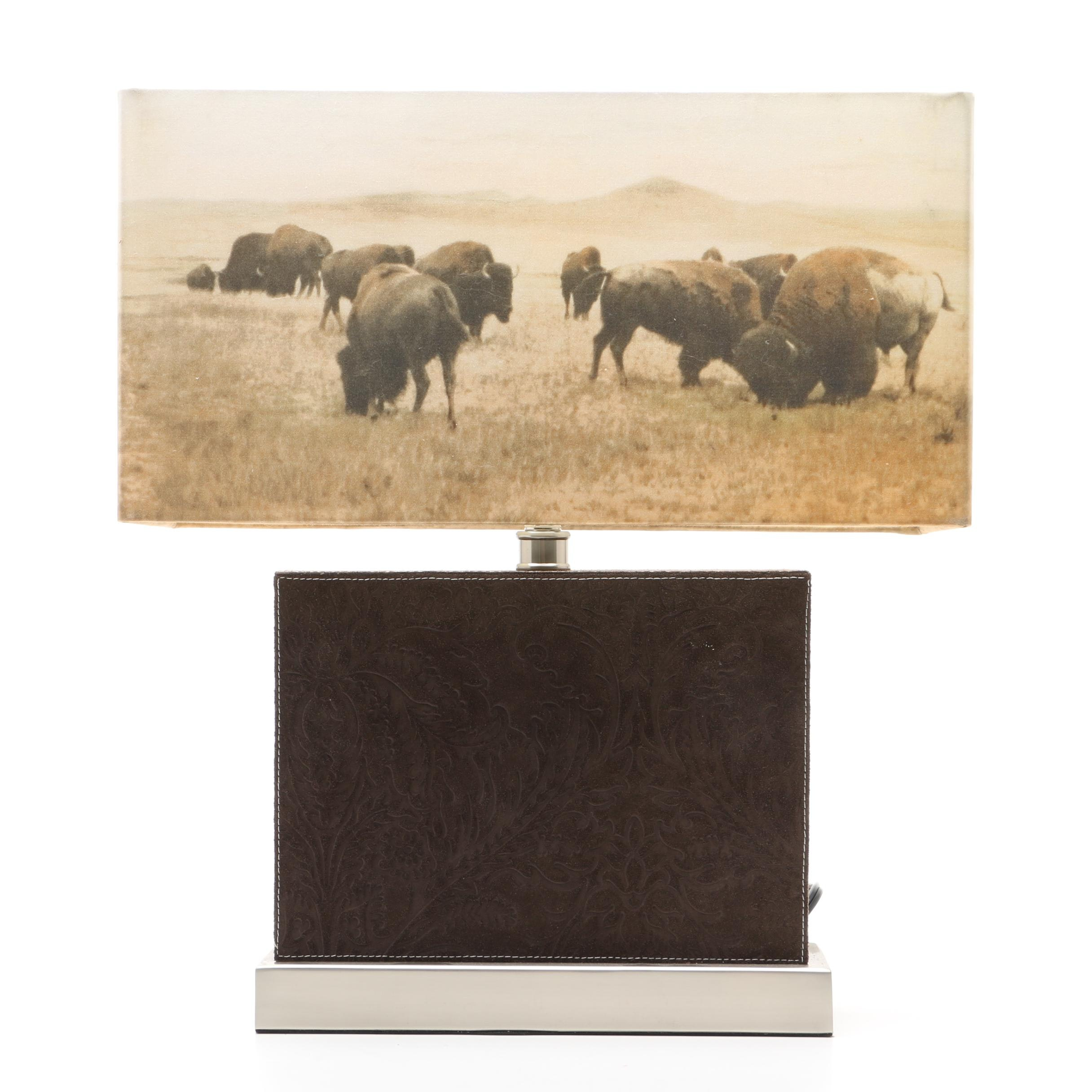 Buffalo Imagery Table Lamp