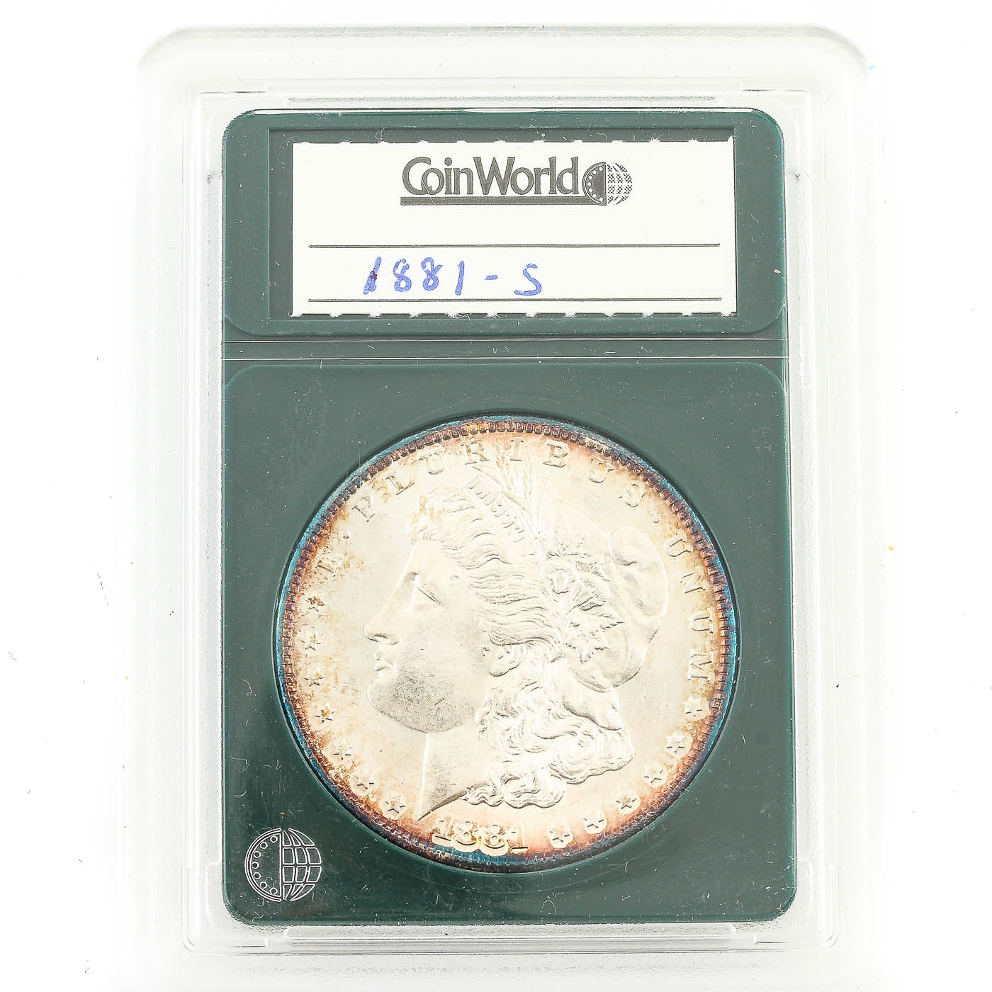Encapsulated 1881-S Morgan Silver Dollar