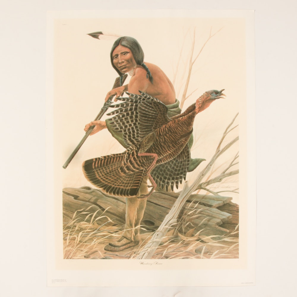 """John Ruthven Limited Edition Offset Lithograph """"Wandering Brave"""""""