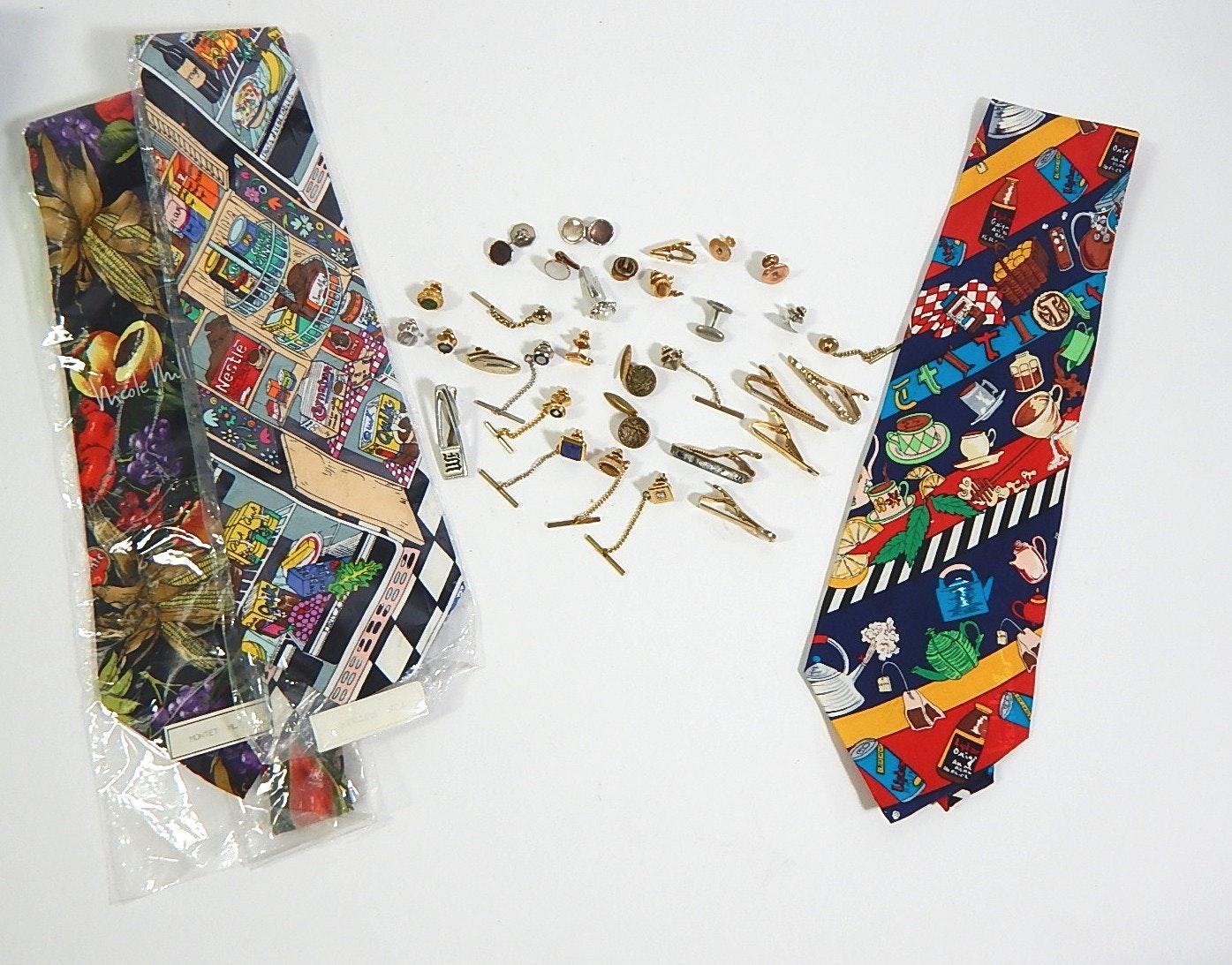 Tie Clips, Pins, Nicole Miller Ties