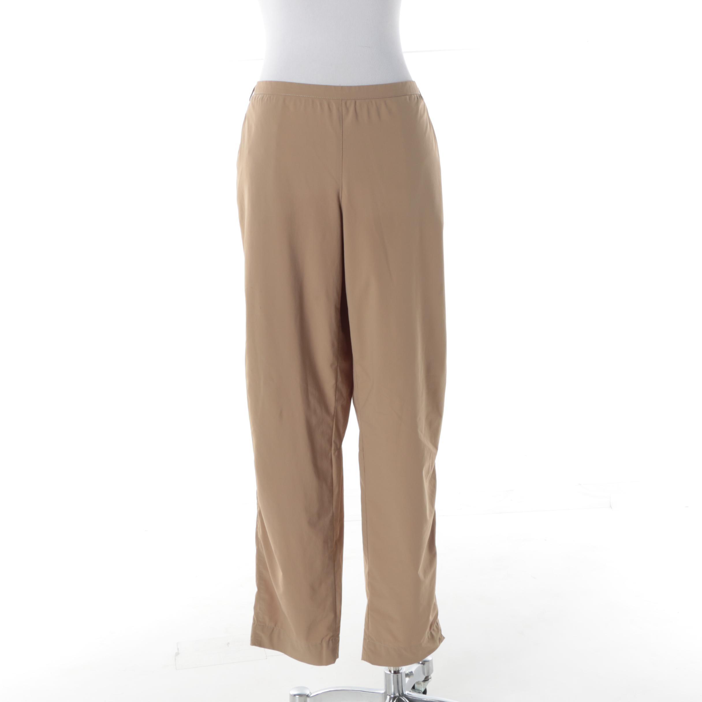Women's Prada Khaki Nylon Pants