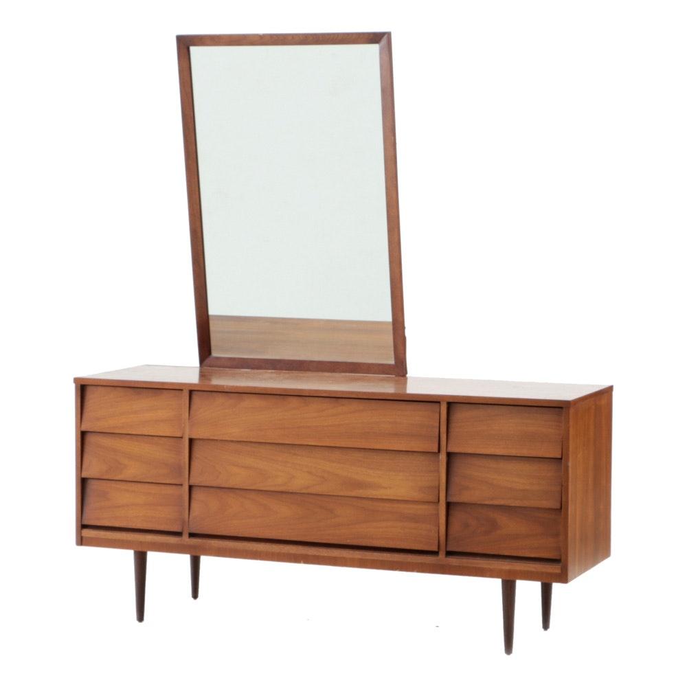 Mid Century Modern Walnut Dresser by Dixie