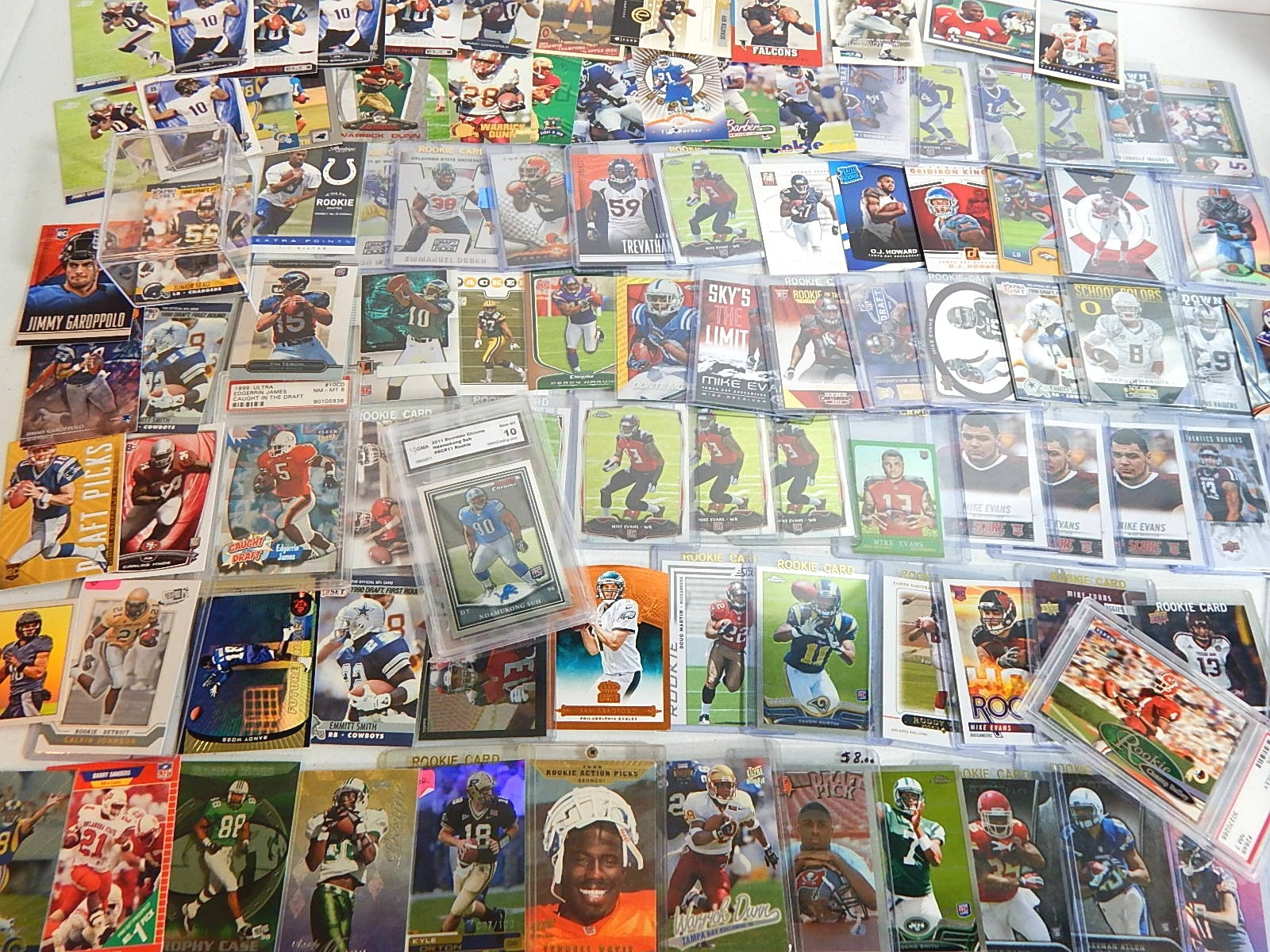 Large Star and Hall of Fame Football Rookie Card Collection