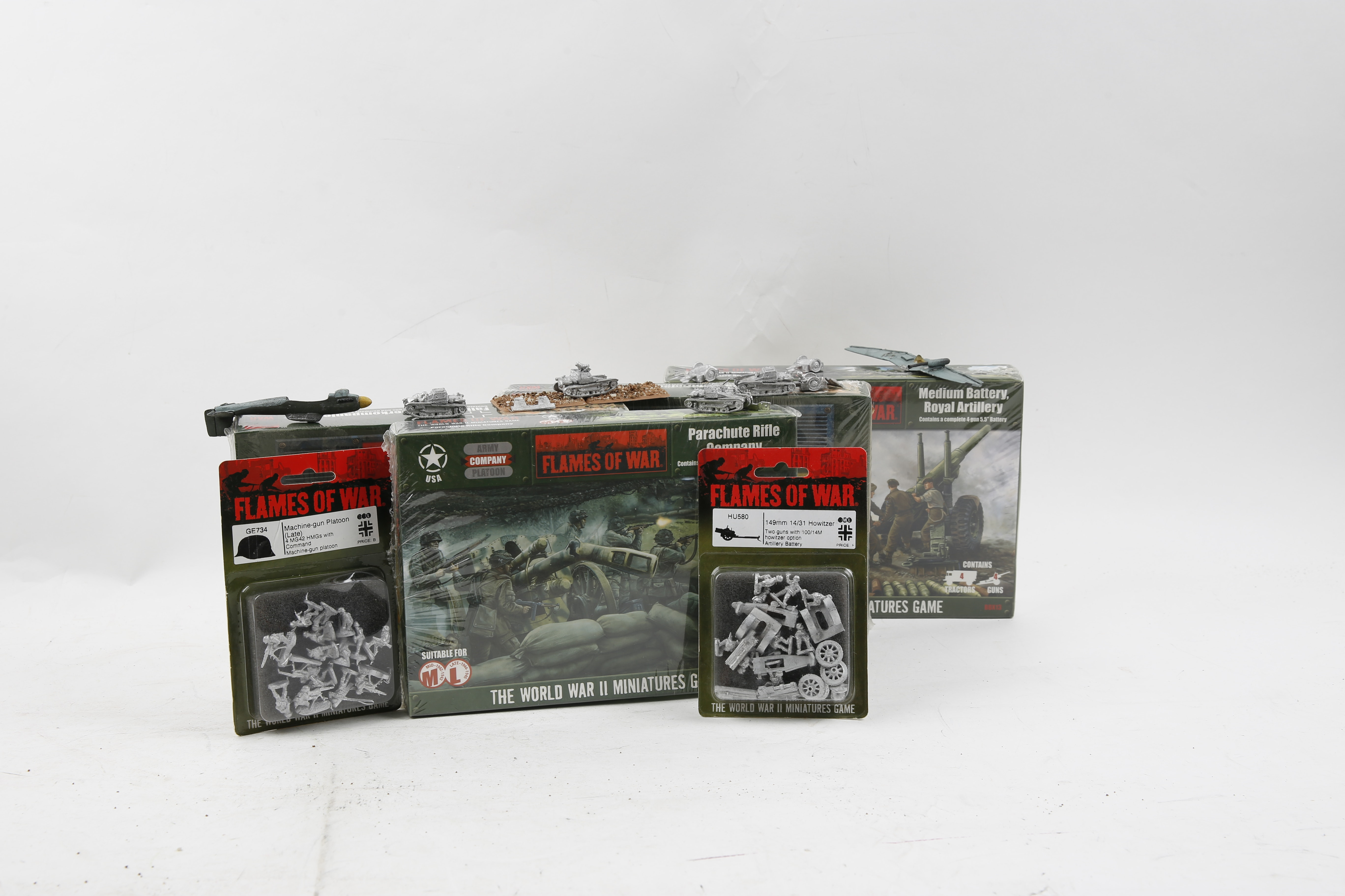 Flames of War Miniature WWII Era Soldiers and Vehicles