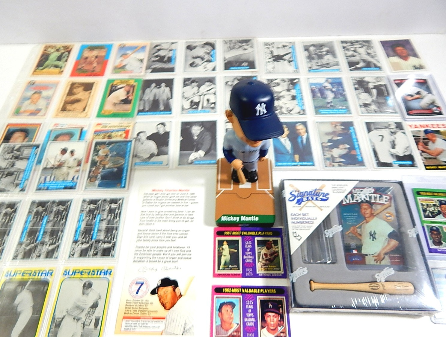 Mickey Mantle Cards and Collectibles - 40 Card Count