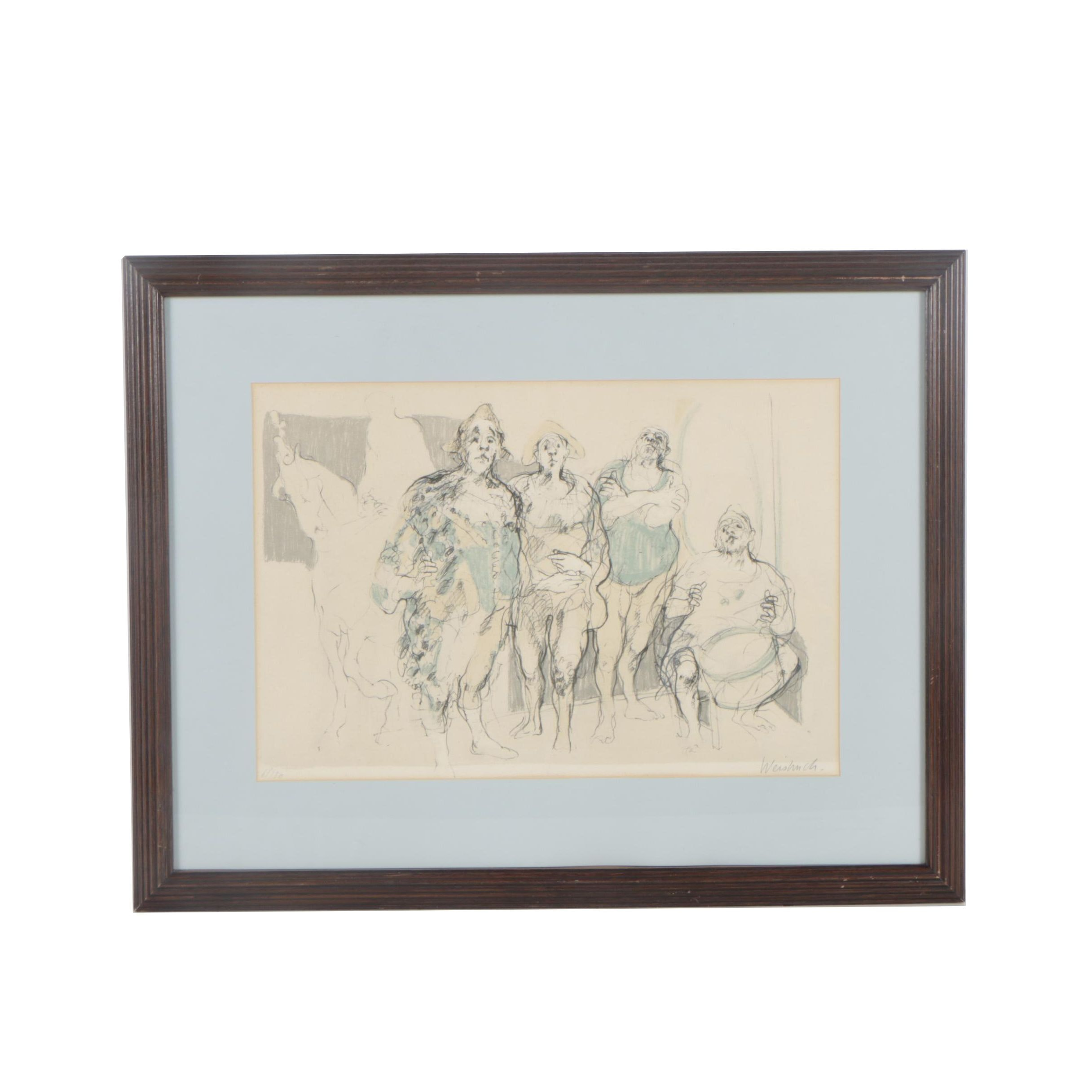 Claude Weisbuch Limited Edition Color Lithograph