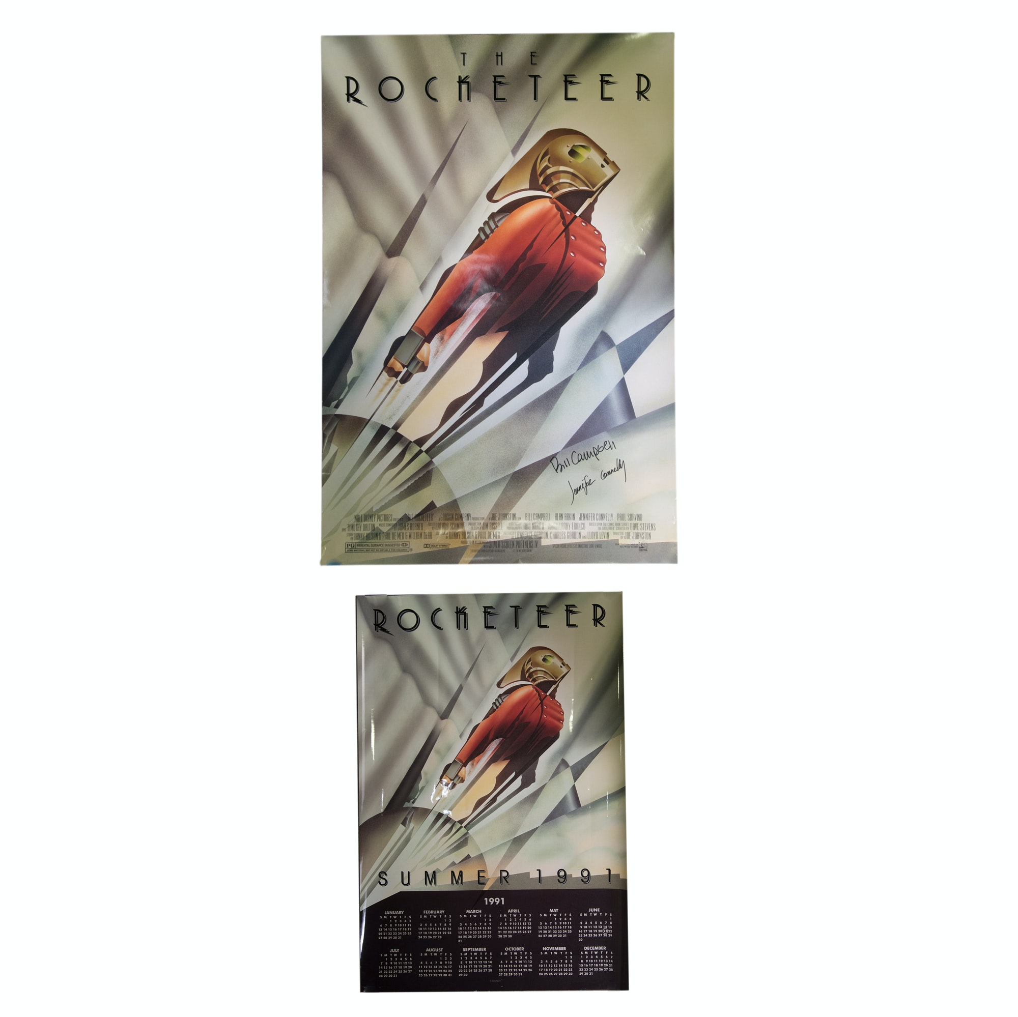 """""""The Rocketeer"""" Authographed Offset Lithograph Movie Poster"""