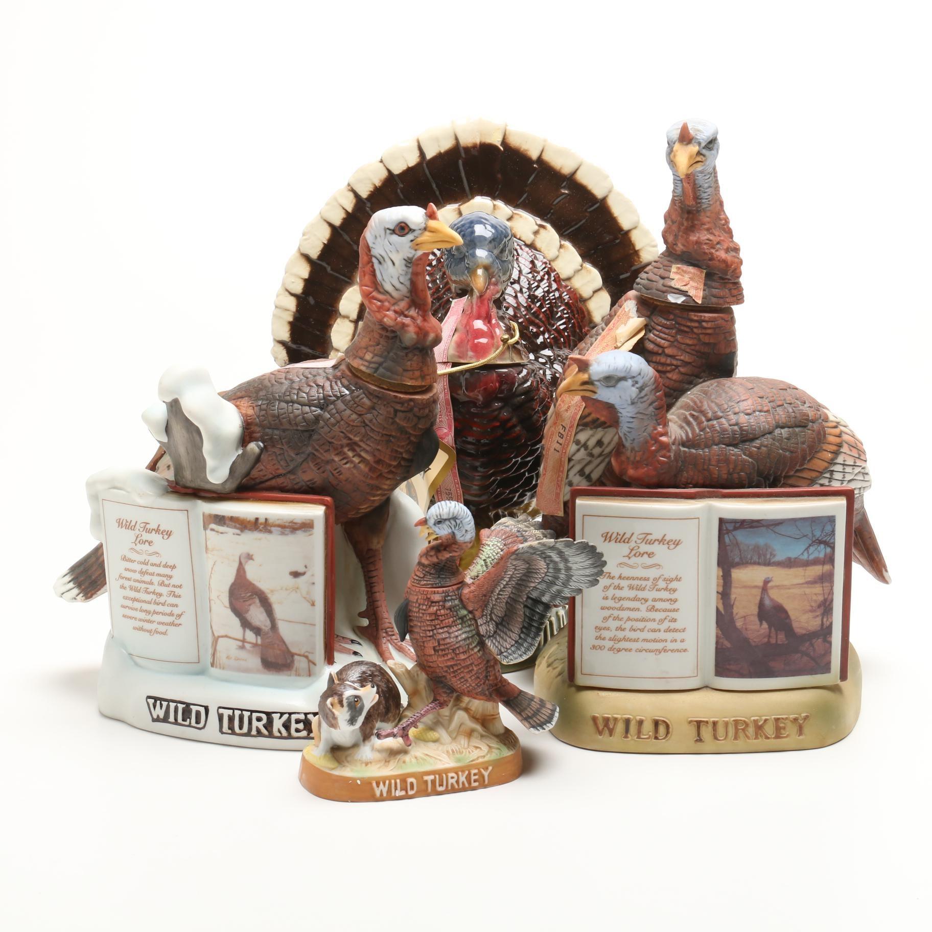 Vintage Wild Turkey Decanters