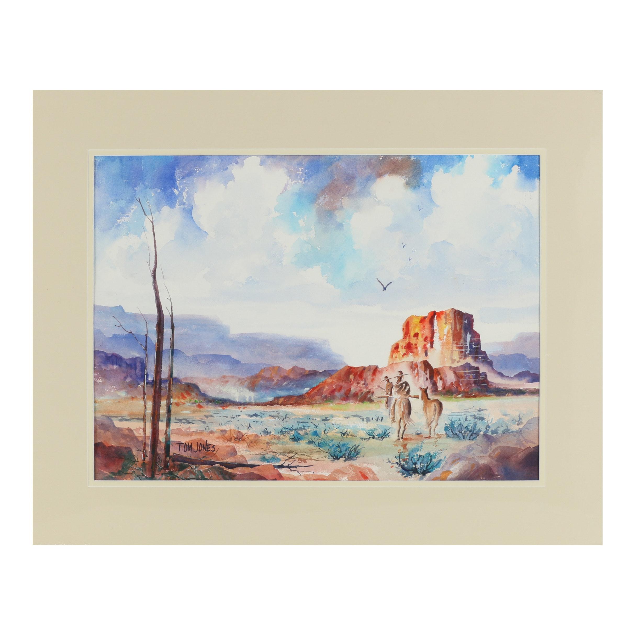 Tom Jones Watercolor Painting
