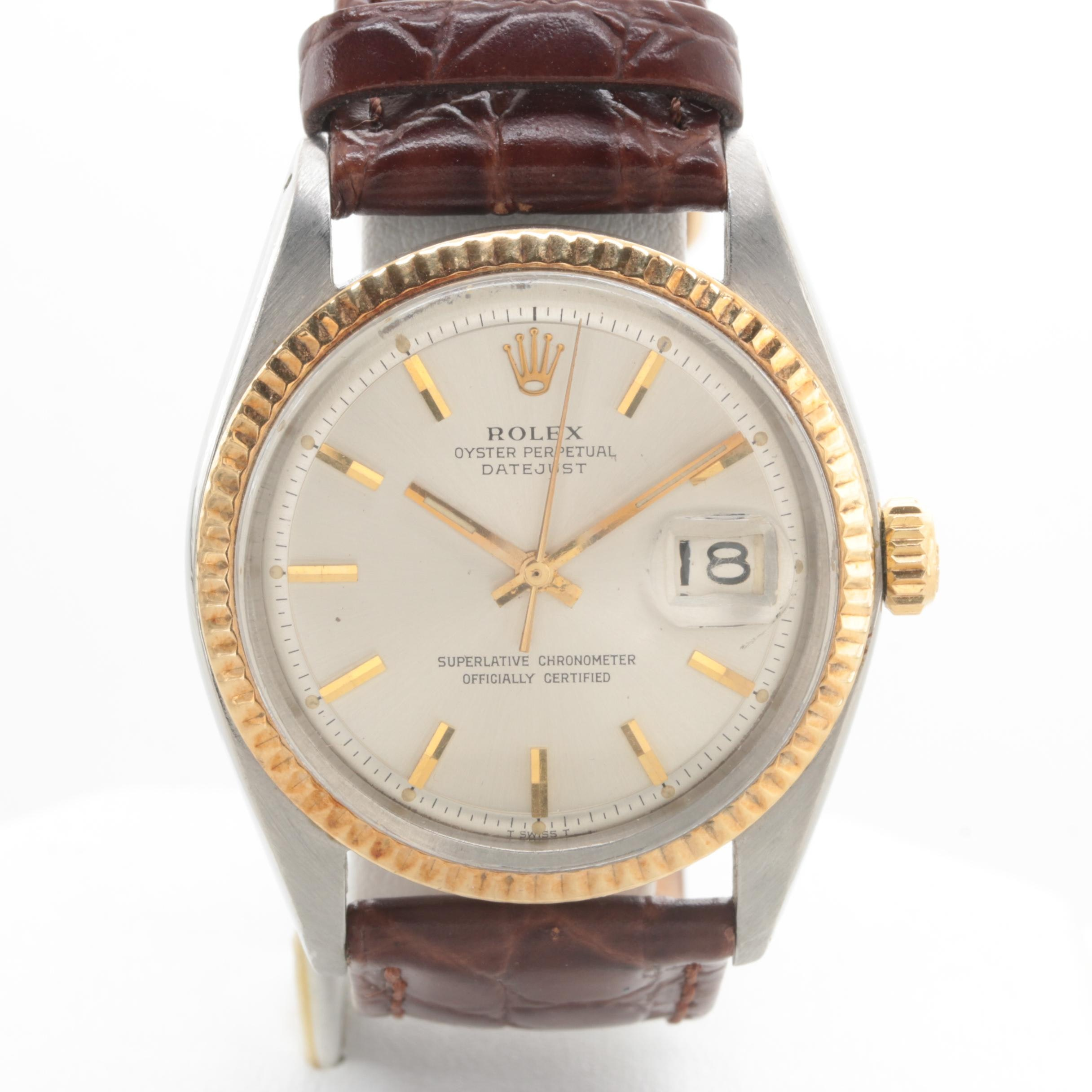 Rolex Datejust Oyster Perpetual Stainless Steel and 14K Yellow Gold Wristwatch