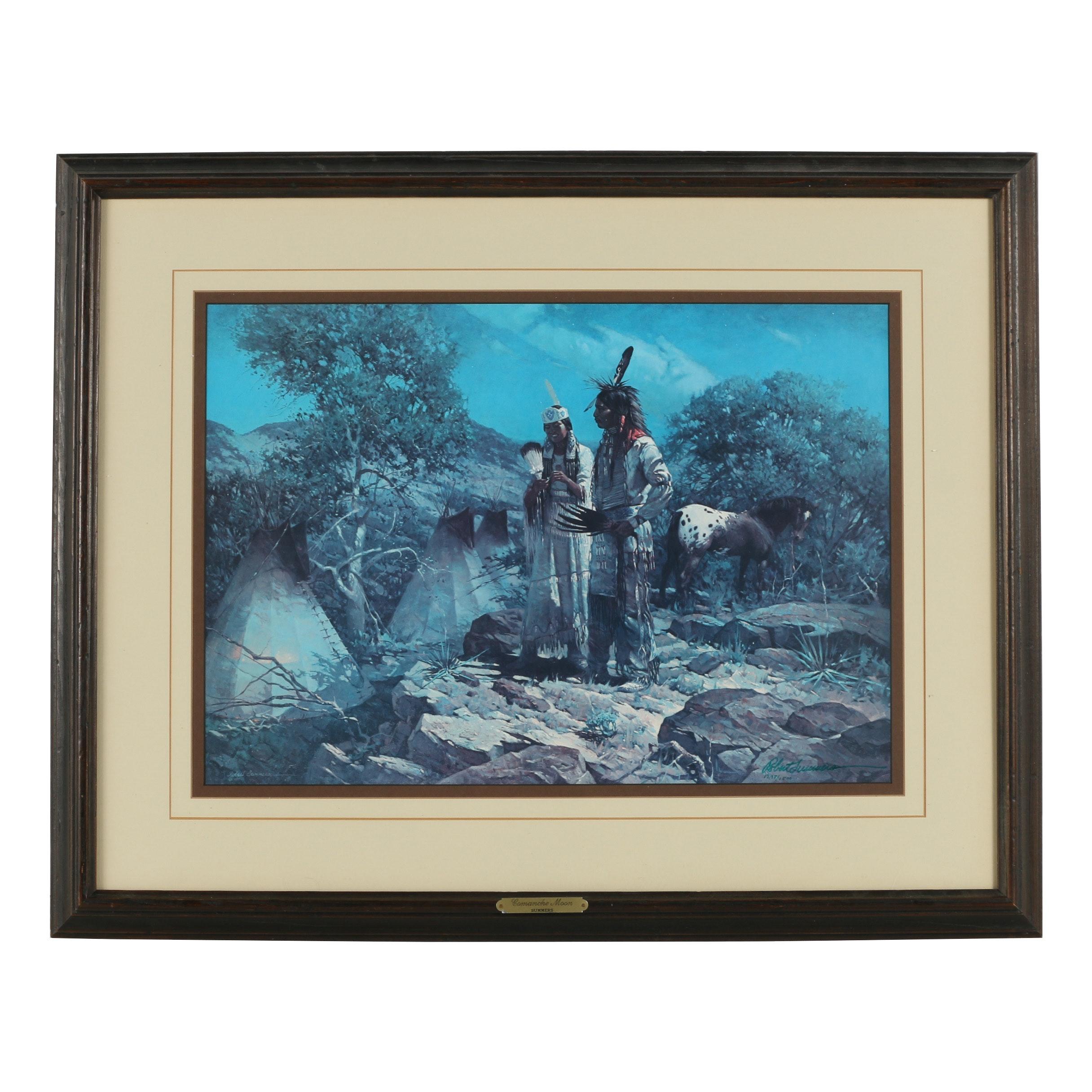 """Robert Summers Offset Lithograph """"Comanche Moon"""""""