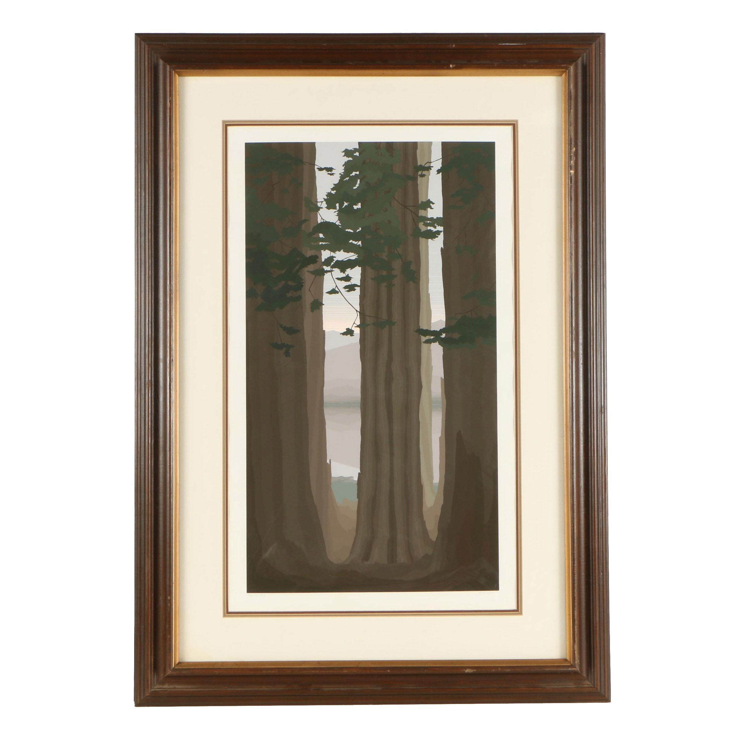 """Jerry Schurr Limited Edition Serigraph """"Muir Woods"""""""