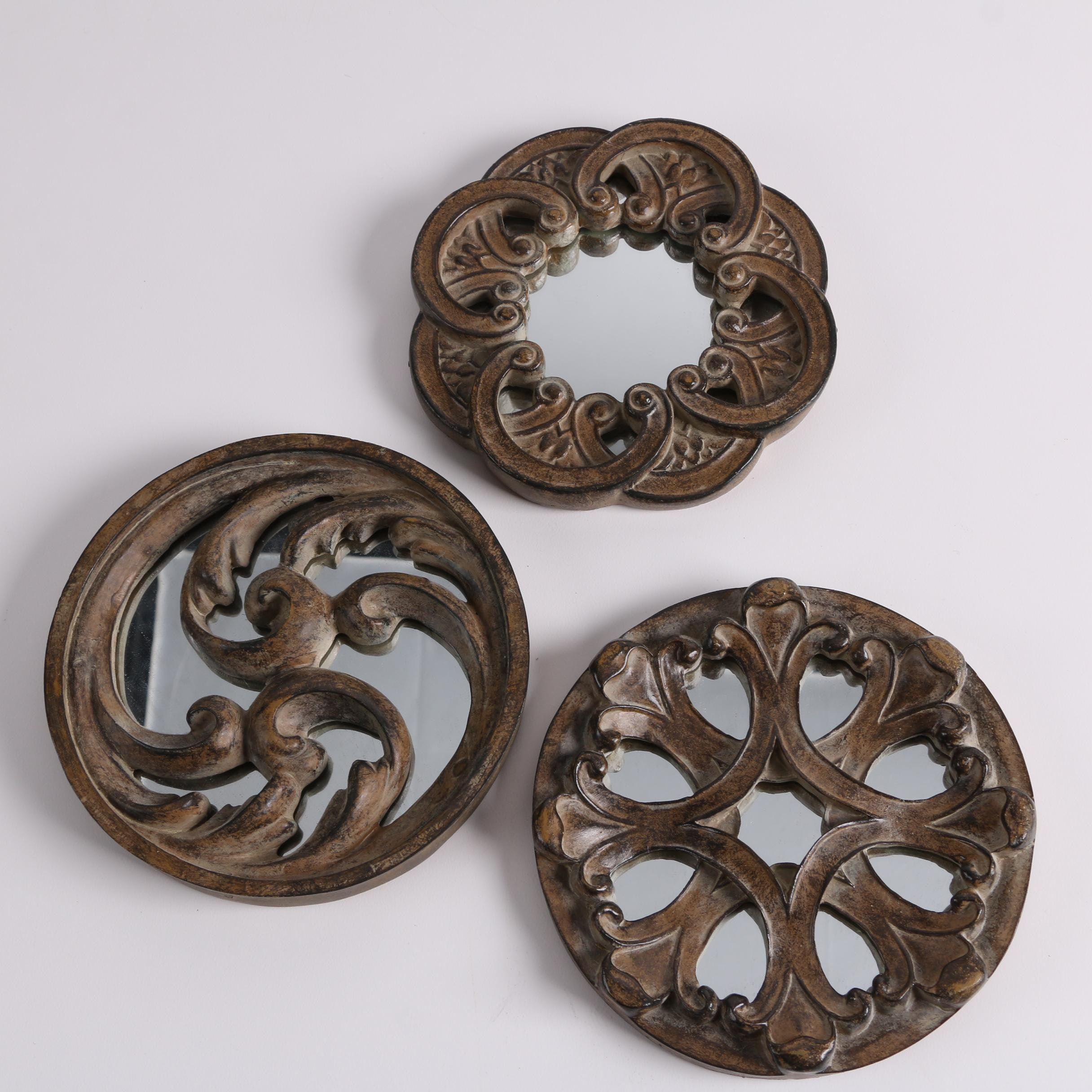 Decorative Wall Hangings with Mirror Backings