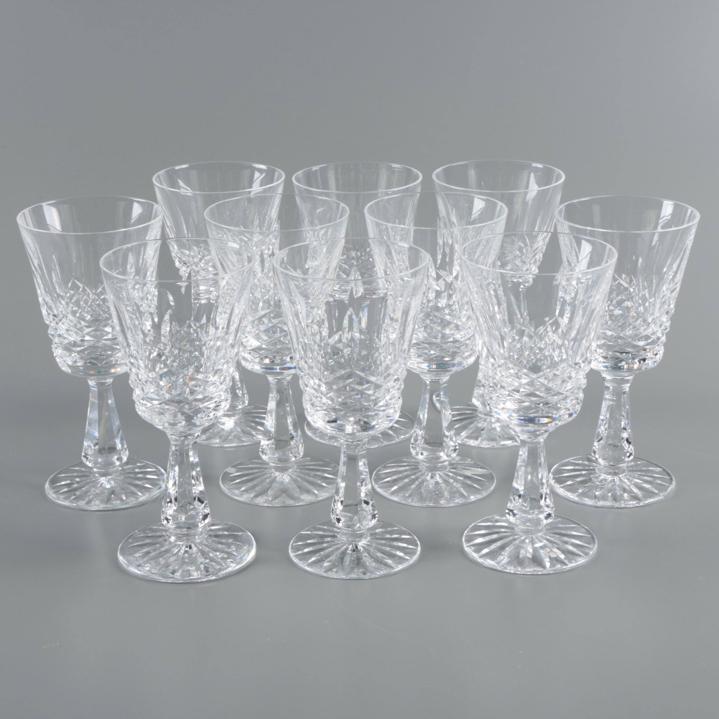 "Waterford Crystal ""Kenmare"" Claret Wine Glasses"