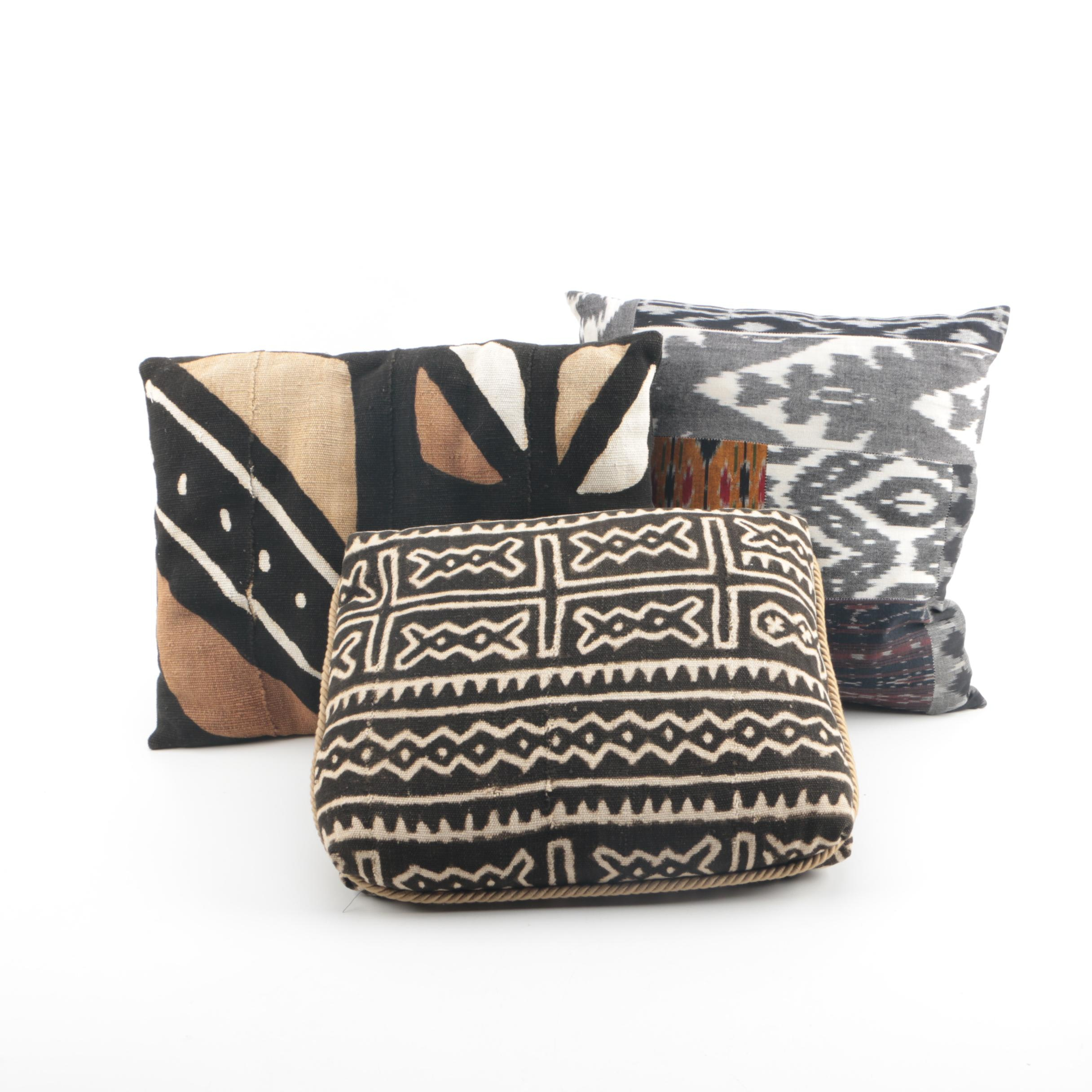 Woven Canvas and Cotton Accent Pillows including Aviva Stanoff