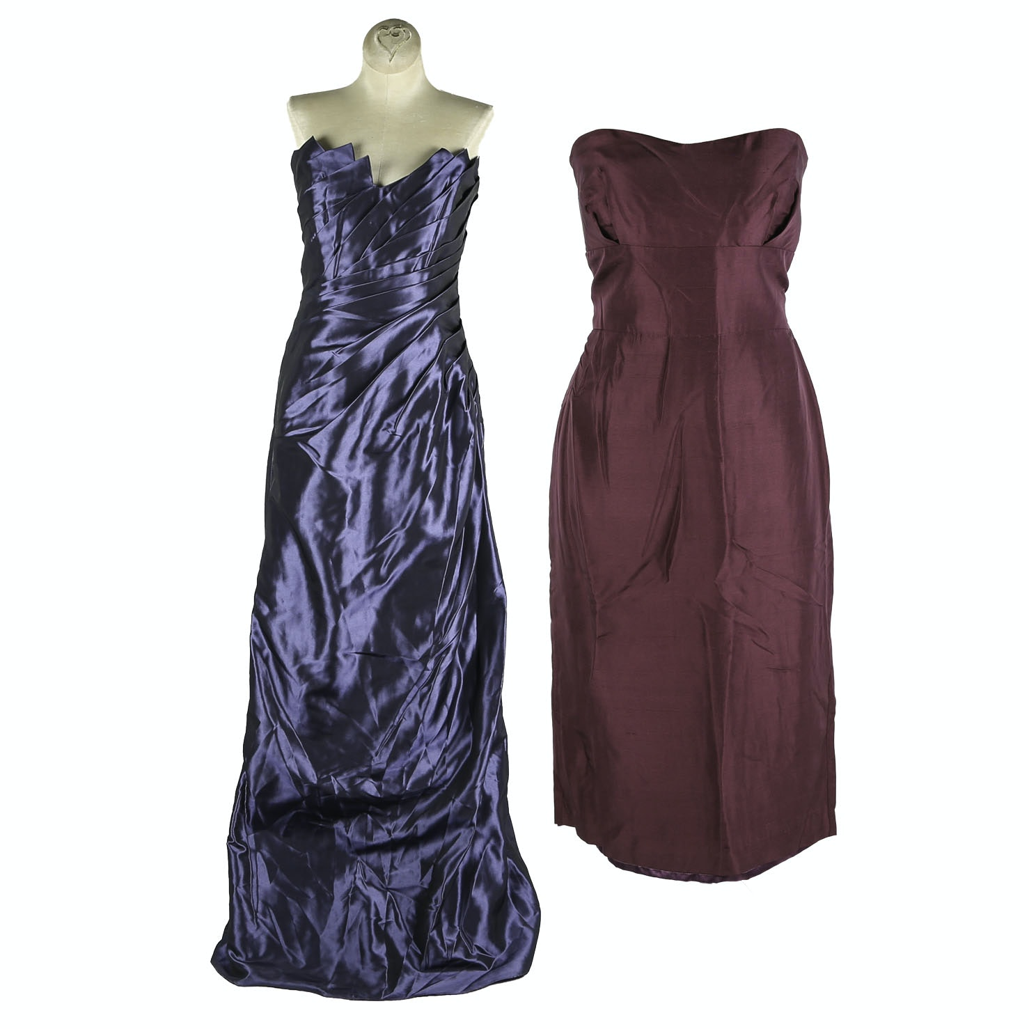 Jenny Yoo Silk Shantung and Simone Carvalli Formal Dresses