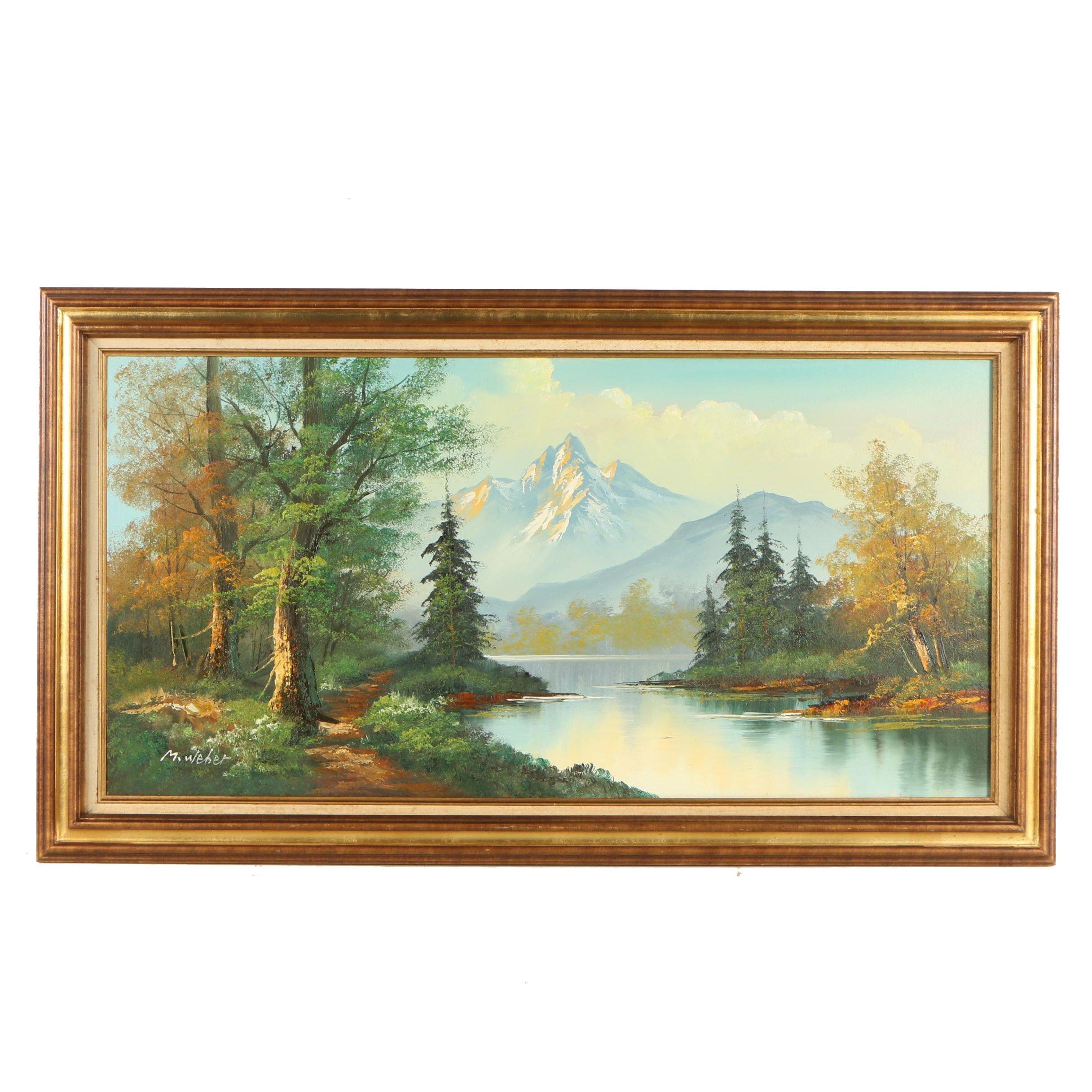M. Weber Landscape Oil Painting