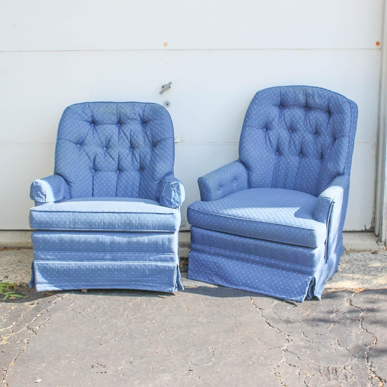 Pair of Woodmark Swivel Rocking Chairs