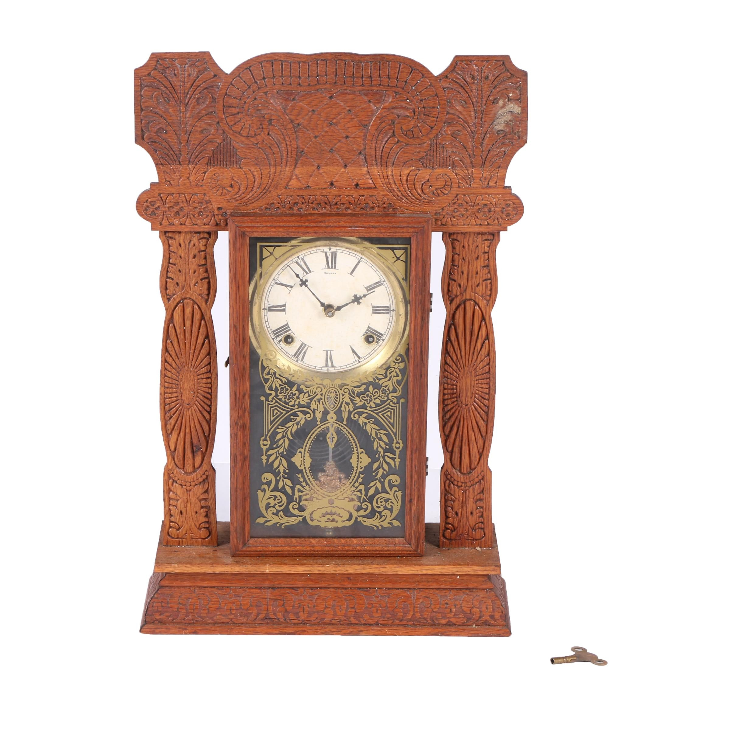 Antique Gingerbread Style Mantel Clock