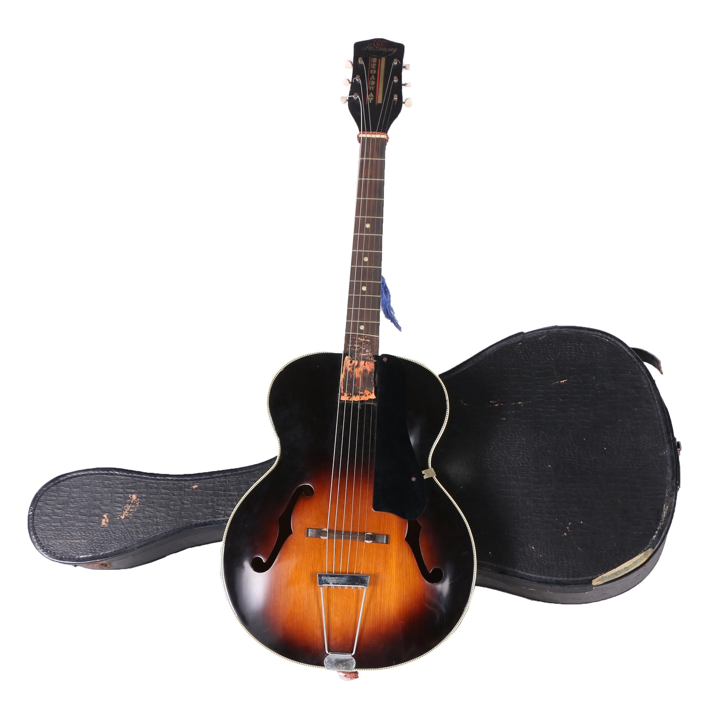 Harmony Broadway Acoustic Guitar with Case
