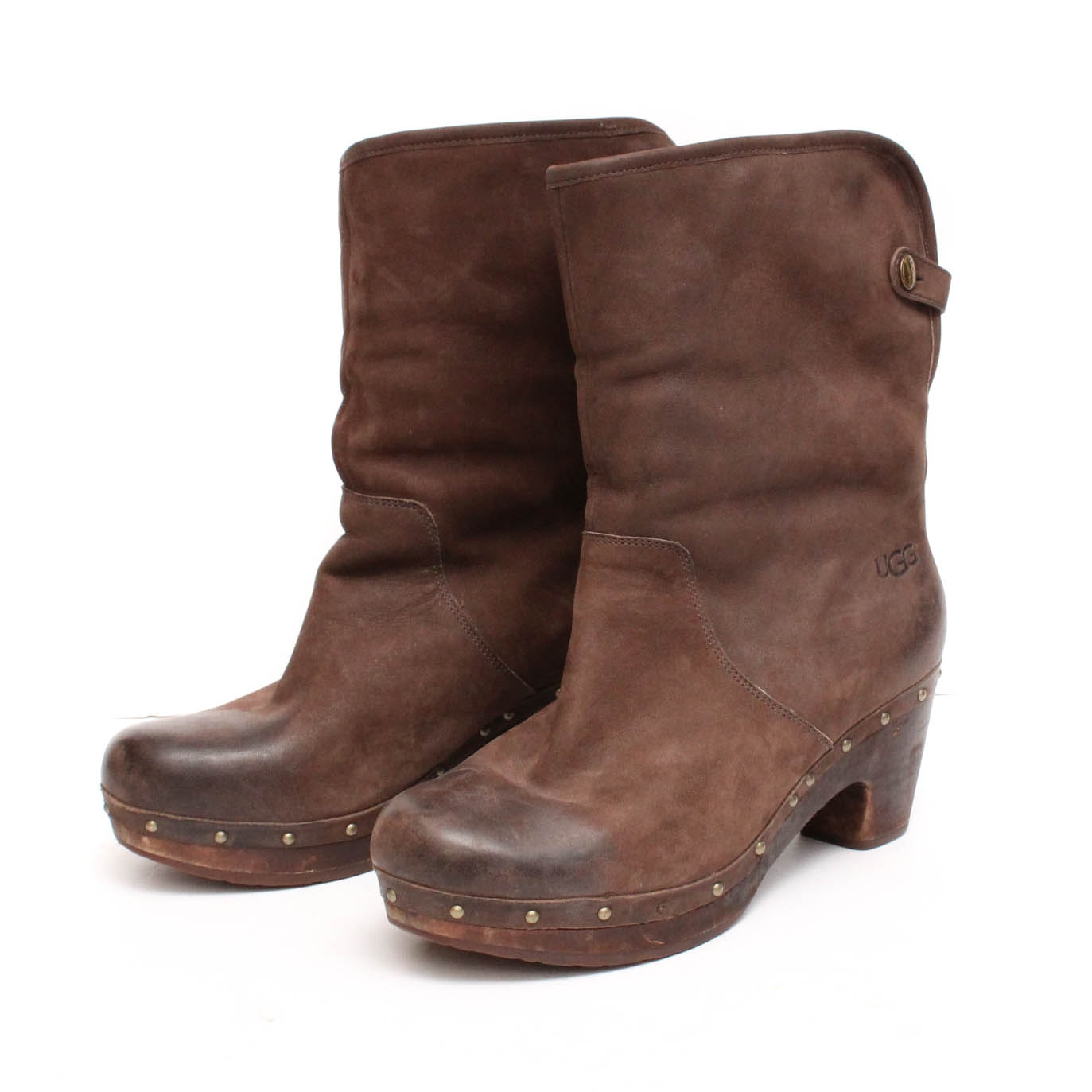 Ugg Lynnea Brown Suede and Shearling Convertible Boots