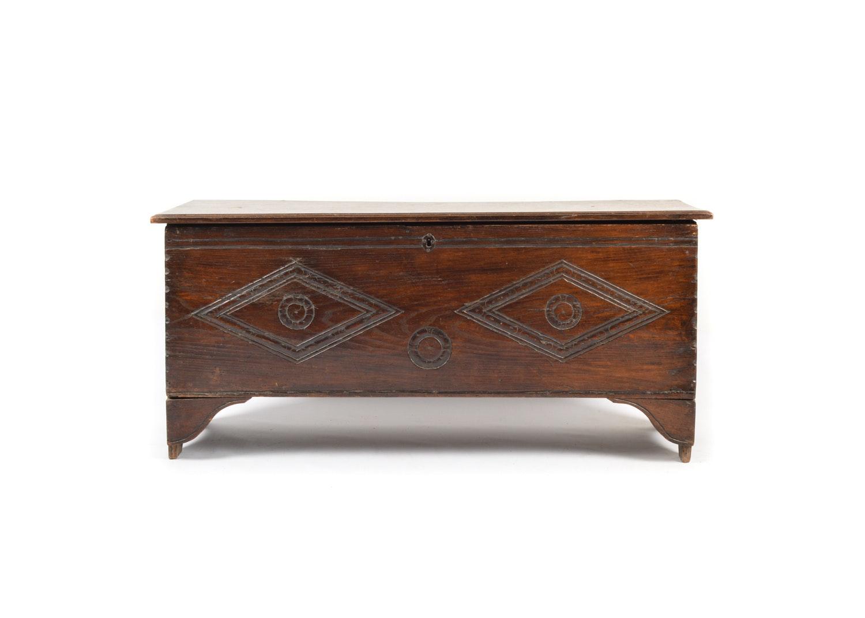 18th Century English Oak Plank Chest