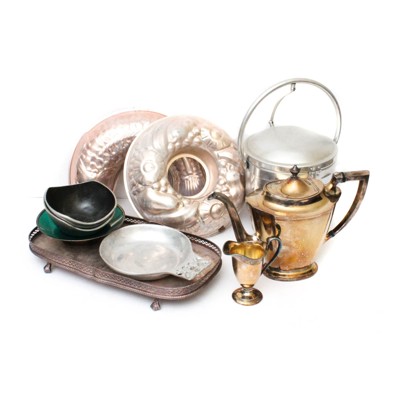 Vintage Silver Plate and Metal Kitchenalia and Serveware