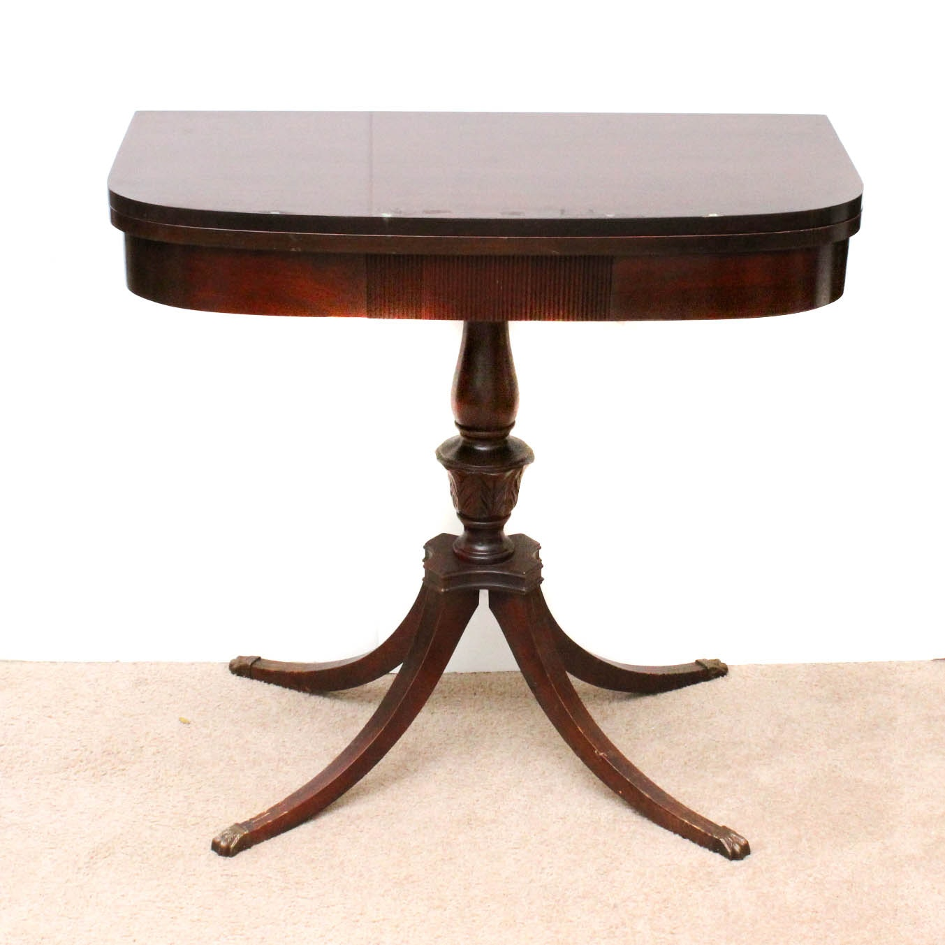 Colonial Revival Mahogany Game Table by Mersman