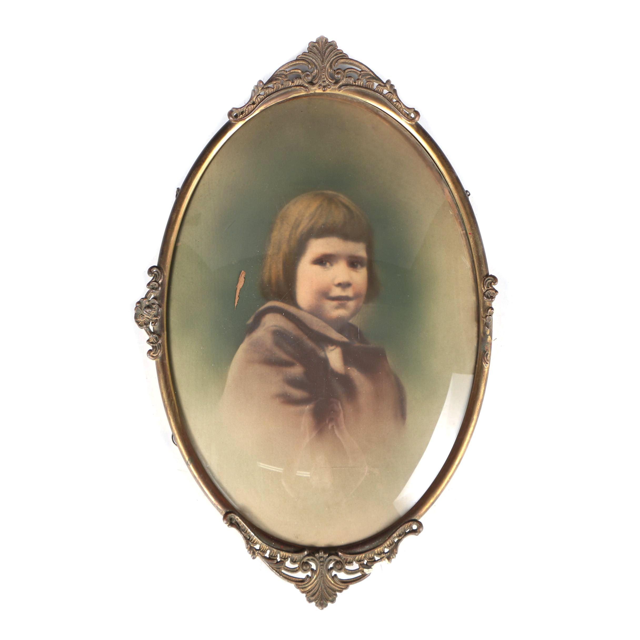 Antique Crayon Portrait