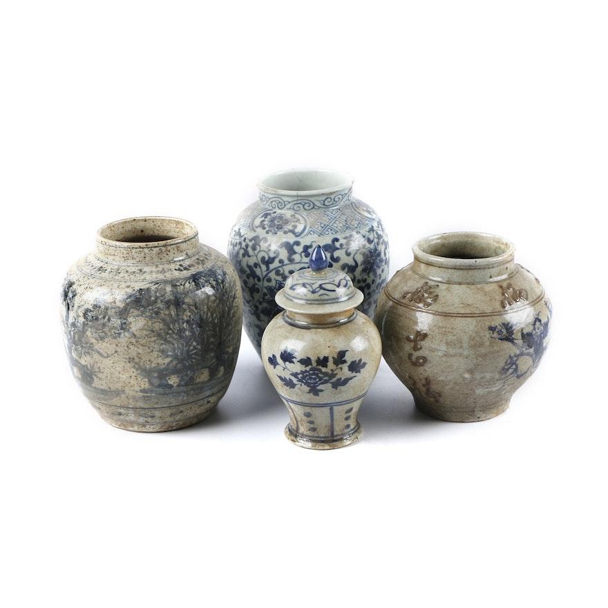 Chinese Decorative Ceramic Vases And Jar Ebth