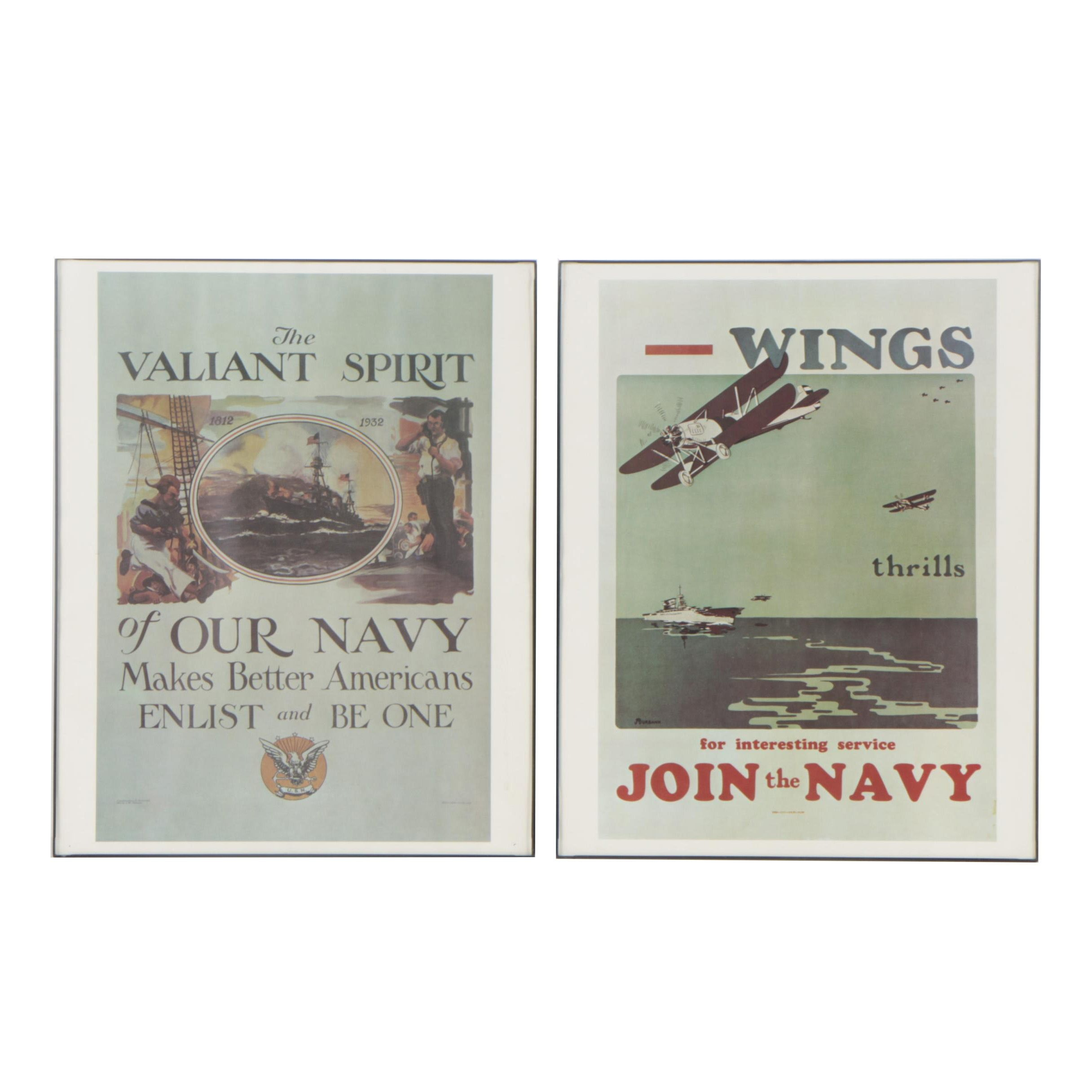 Offset Lithographs After Naval Recruiting Posters