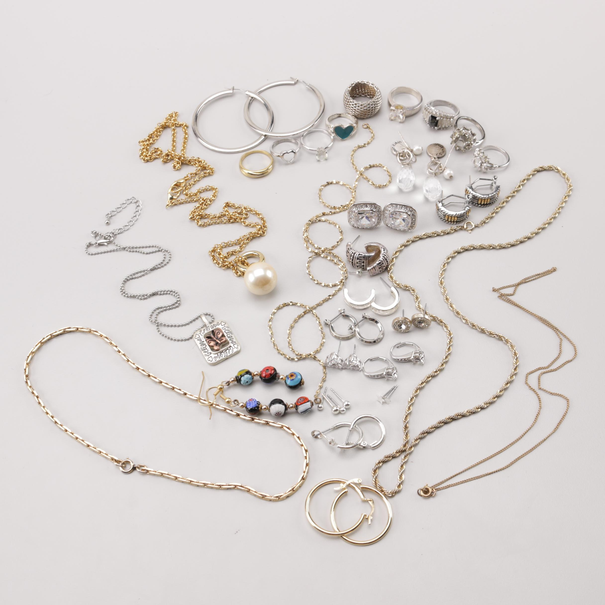 Assortment of Costume Cubic Zirconia and Other Gemstone Jewelry