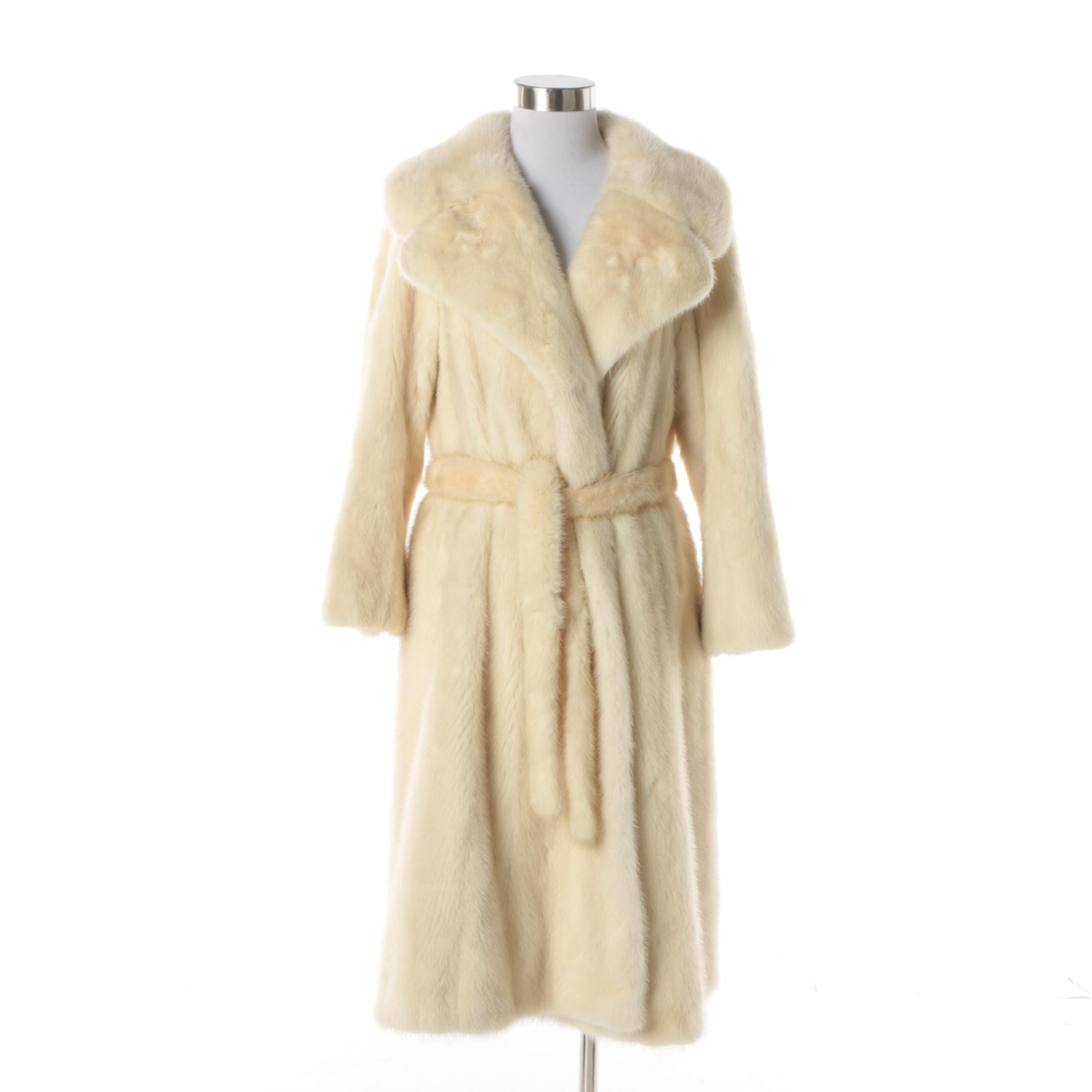 Women's Vintage Gartenhaus Blonde Mink Fur Coat
