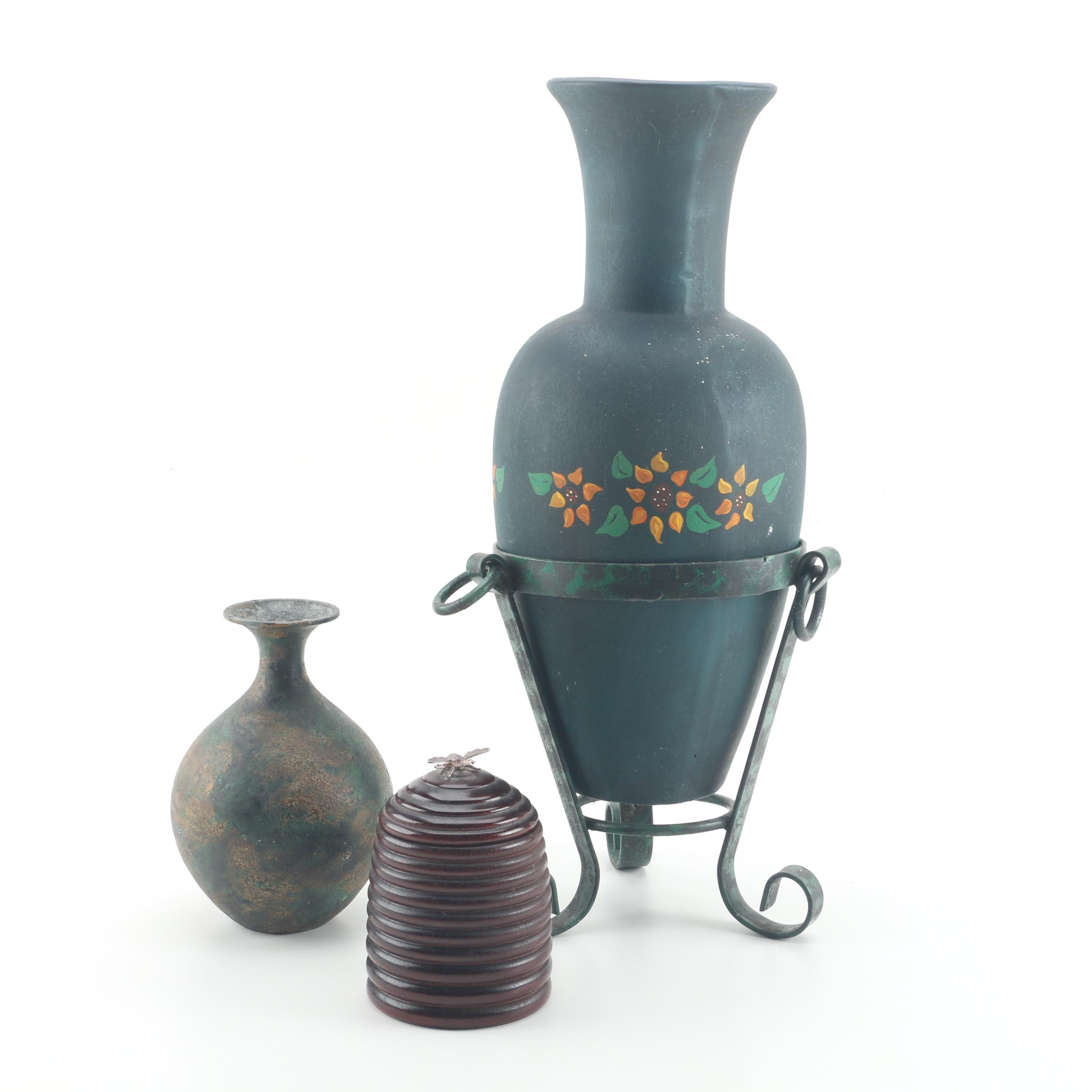 Hand-Painted Pottery and Home Decor