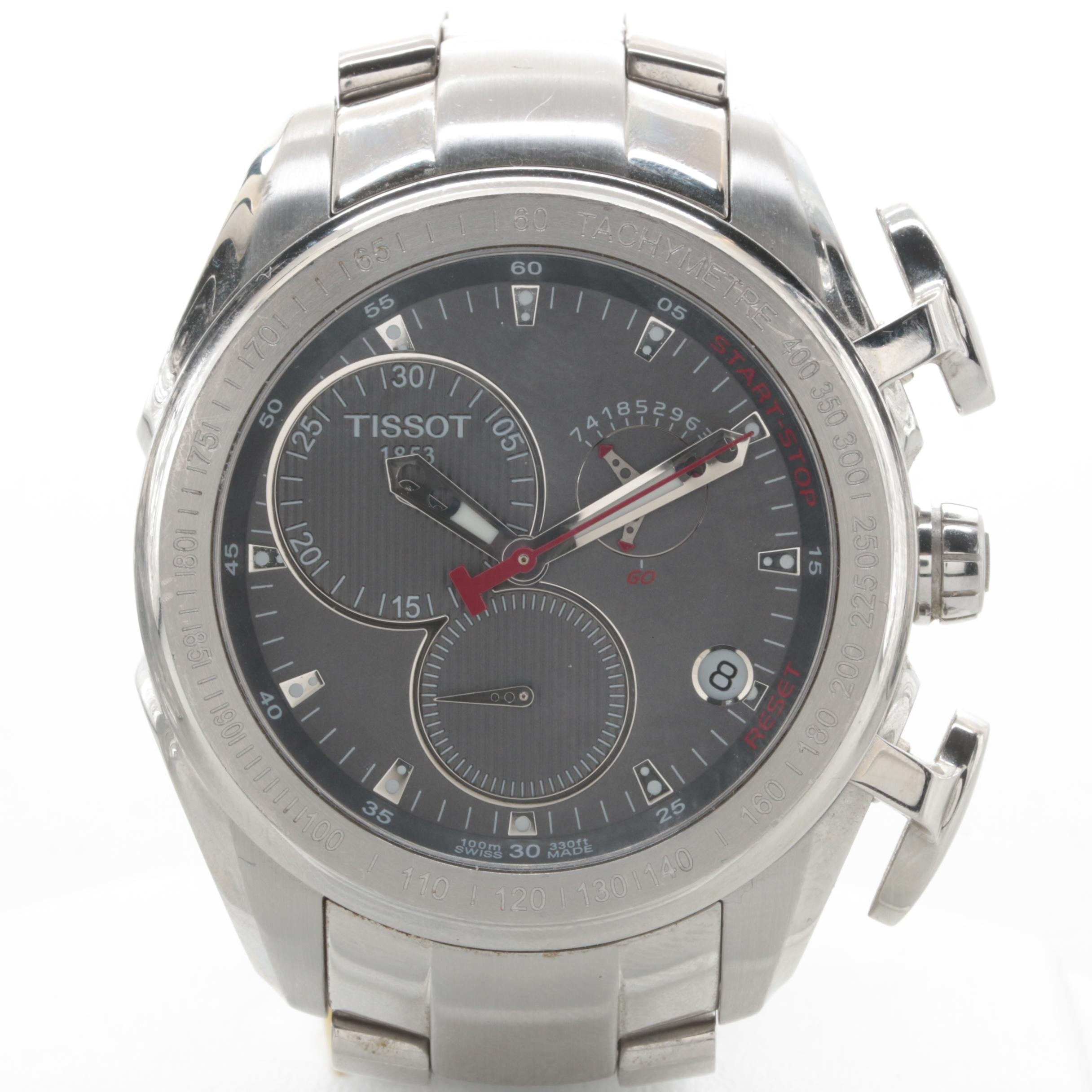 Tissot Stainless Steel Wristwatch with Tachymeter