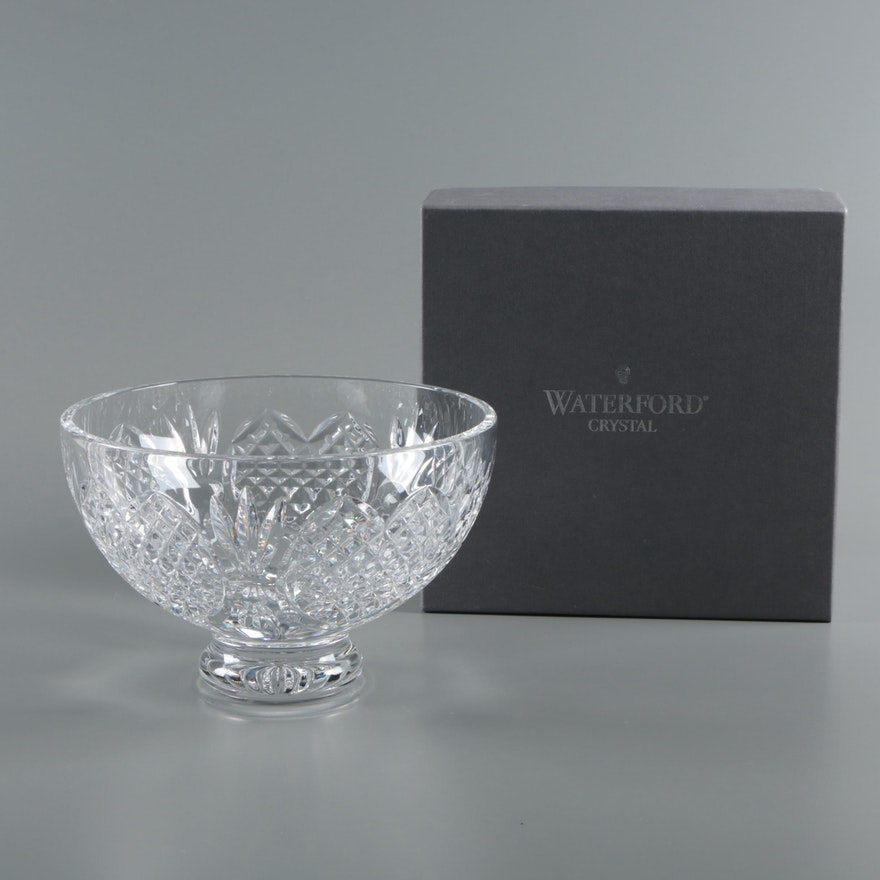 Waterford Crystal Wedding Heirloom Collection Footed Bowl