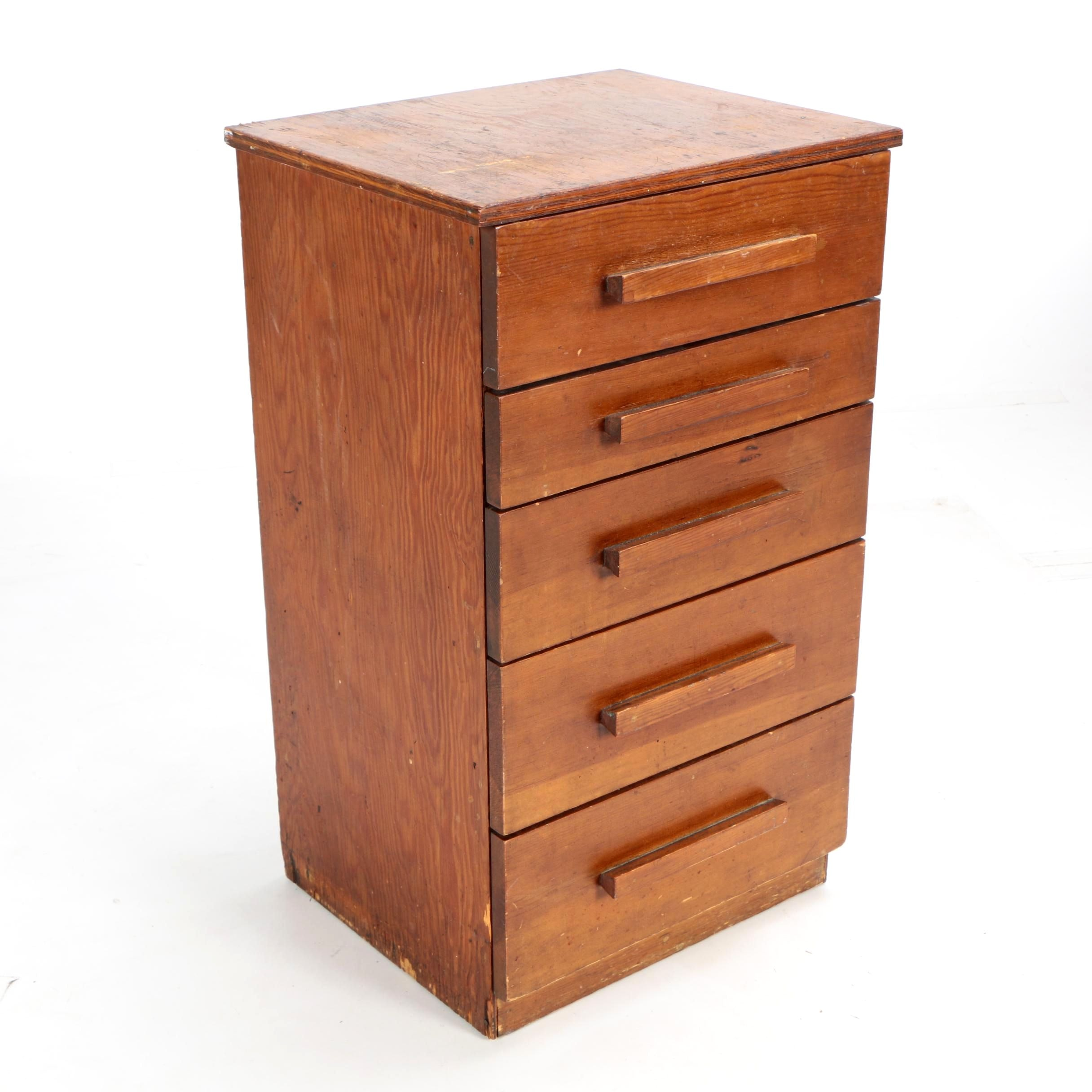 Mid Century Wooden Small Chest Of Drawers ...