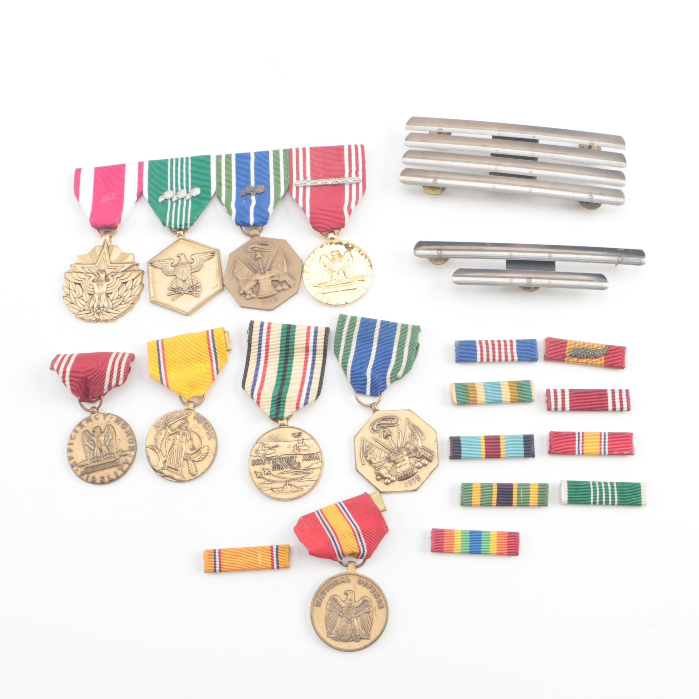 Vintage Military Medals and Ribbons