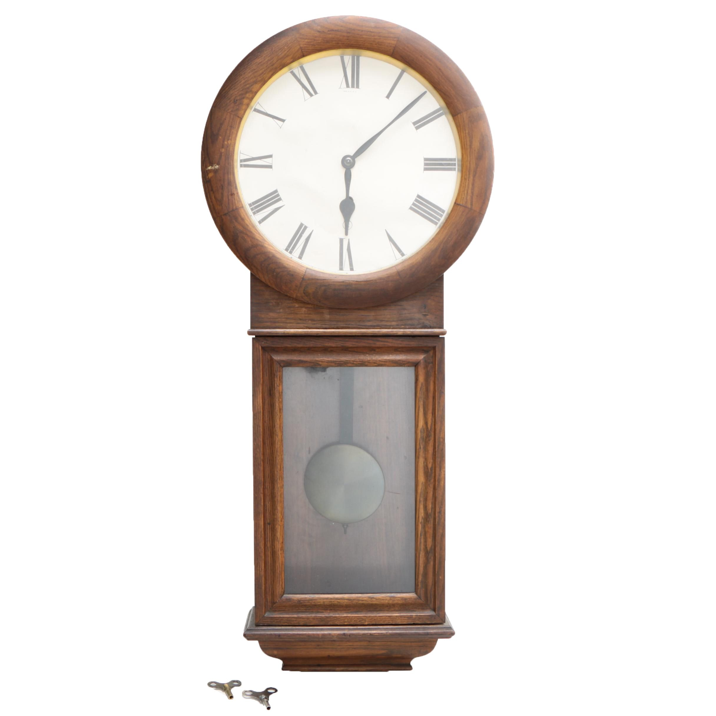 Vintage New Haven Clock Co. Pendulum Clock