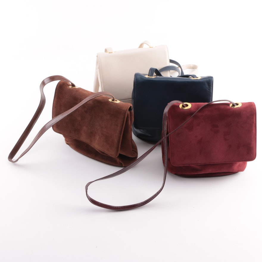 Vintage Frenchy of California Suede and Leather Handbags   EBTH 97d4d9c9b4