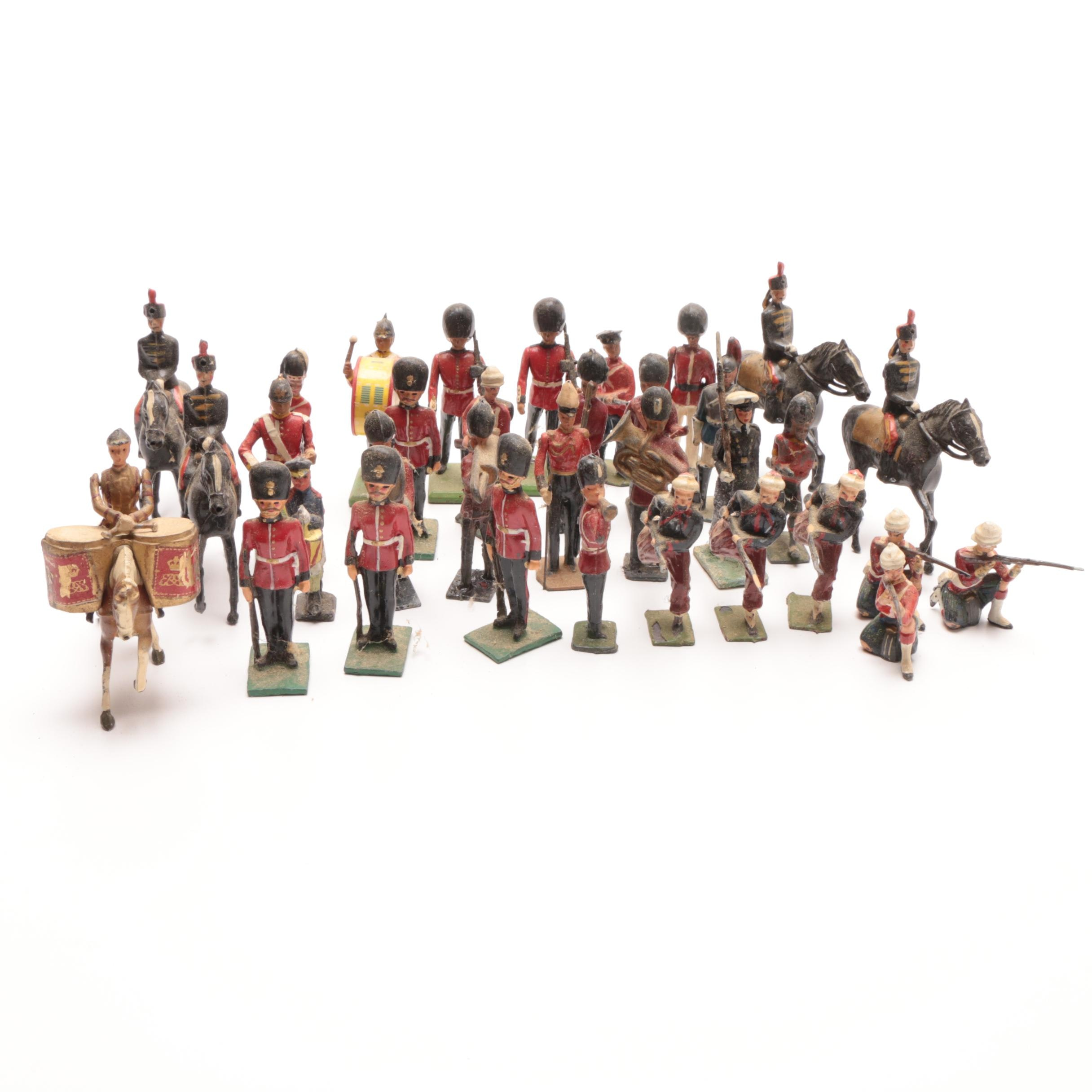 Assorted 1960s Britain Toy Lead Soldiers
