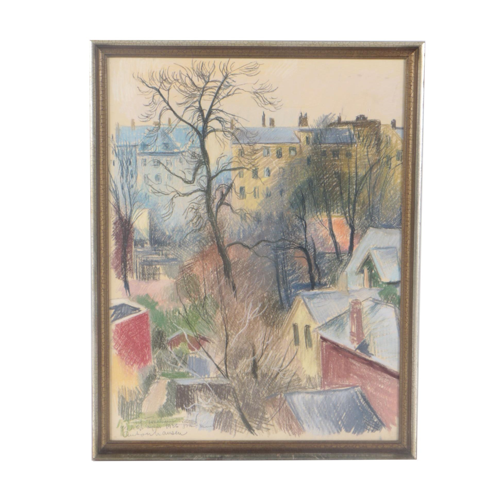 Early 20th Century Pastel Drawing