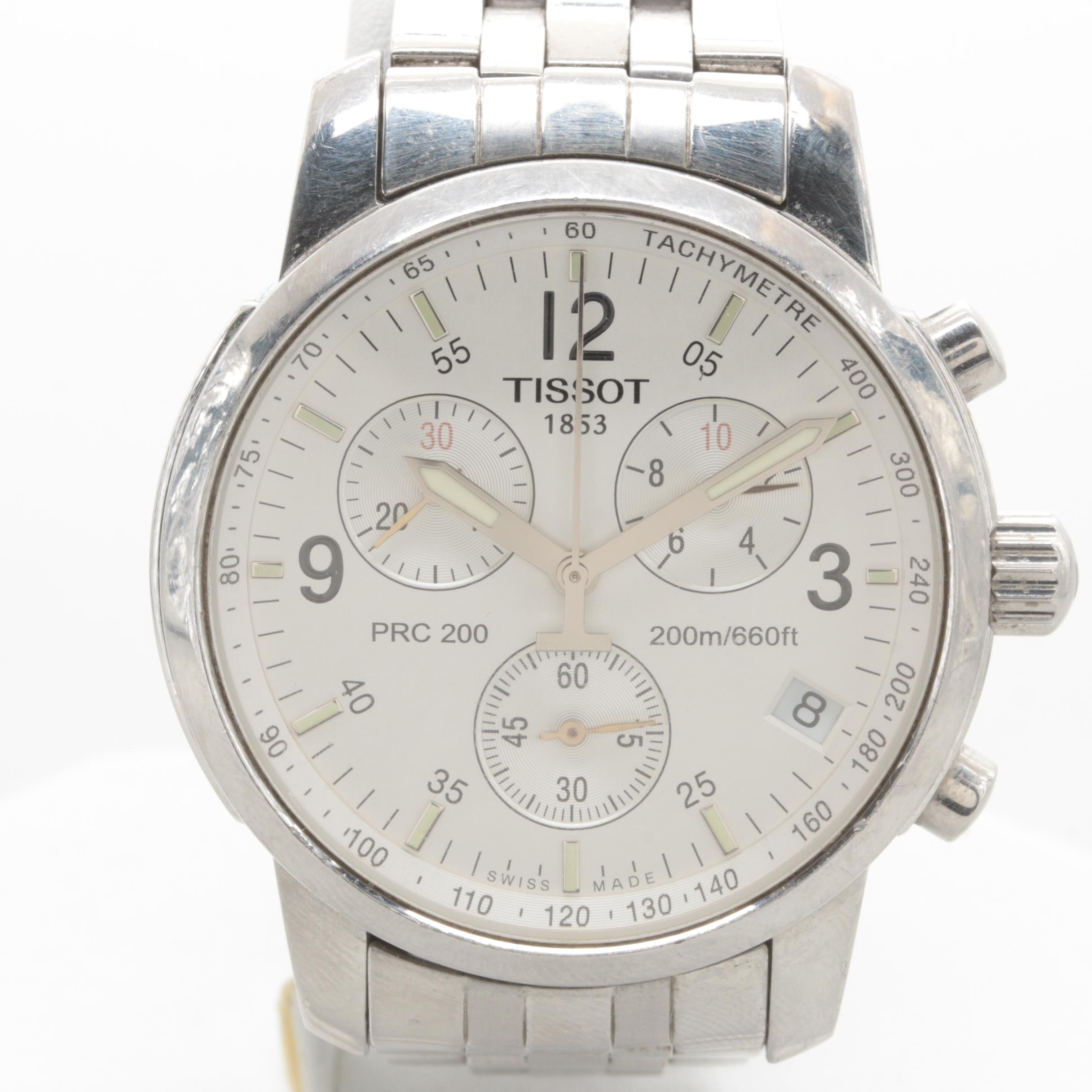 Tissot Stainless Steel Wristwatch with Date Window