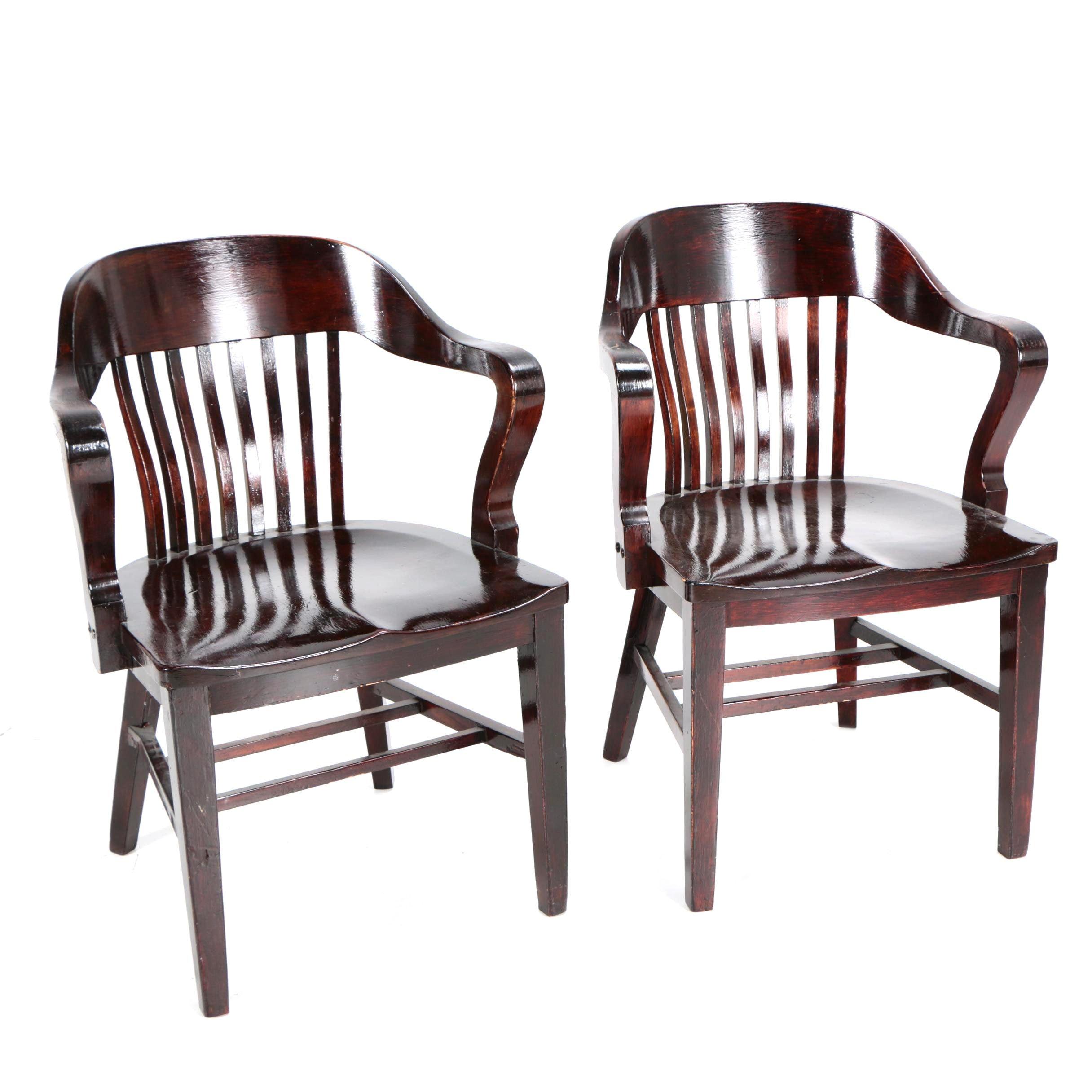 Vintage Birch Armchairs