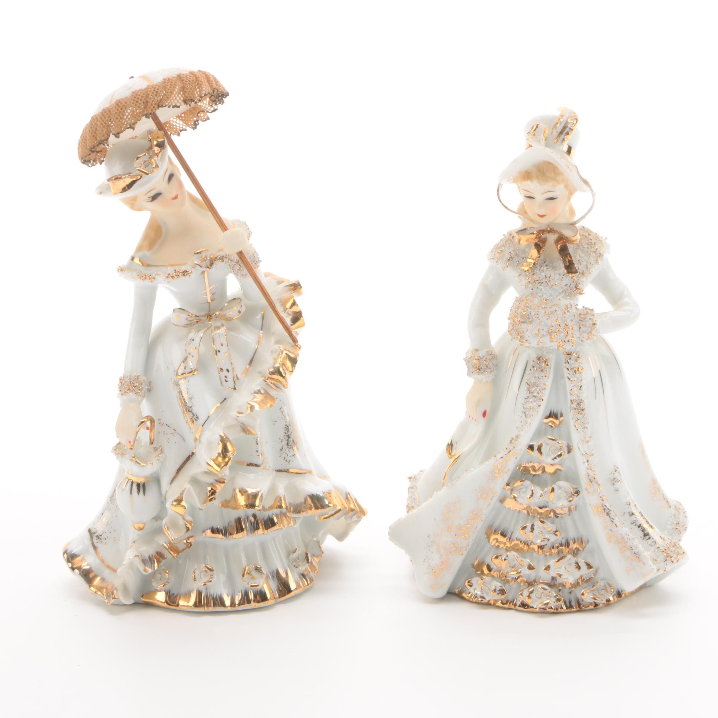 Lefton China Hand-Painted Porcelain Figurines