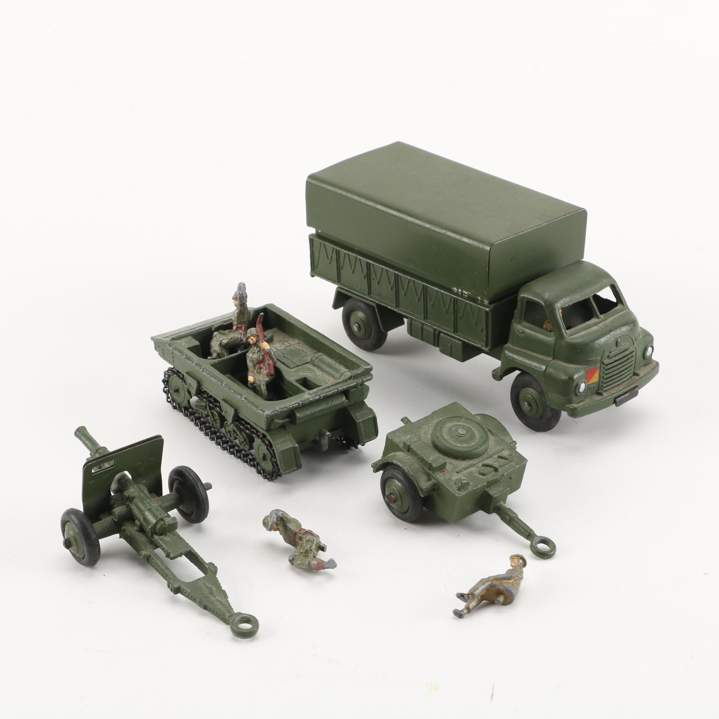 Vintage Dinky Toys Military Vehicles and Servicemen