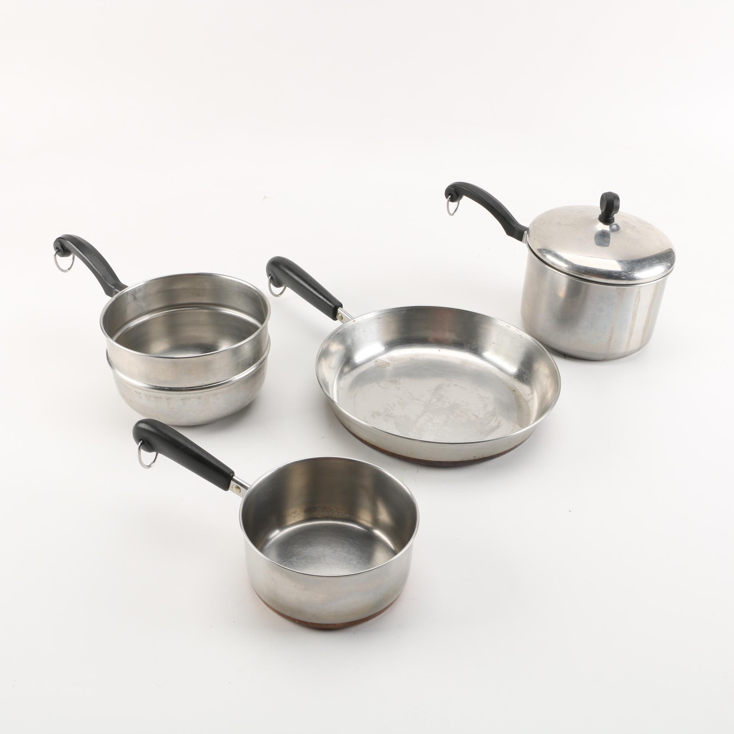 Stainless Steel Pots and Pans including Revere Ware and Farberware