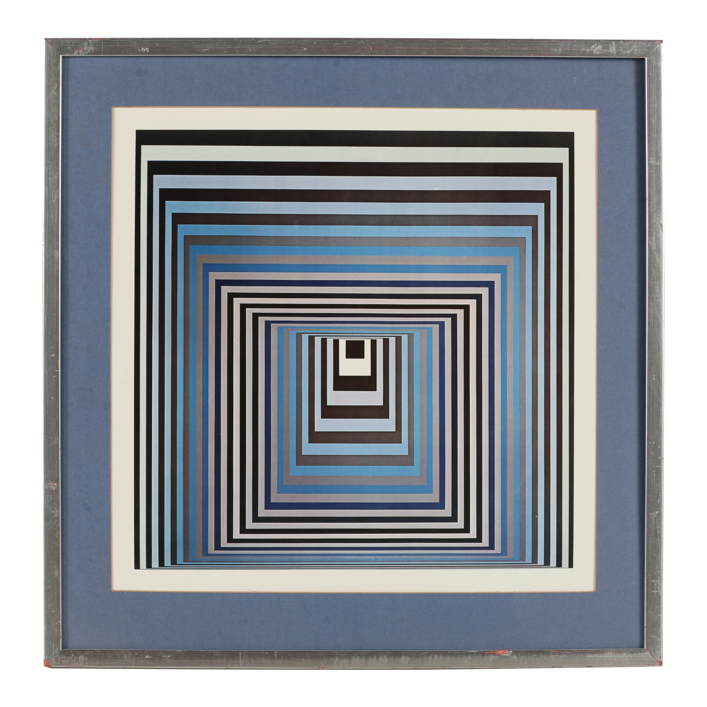 "Offset Lithograph after Victor Vasarely ""Vonal KSZ"""