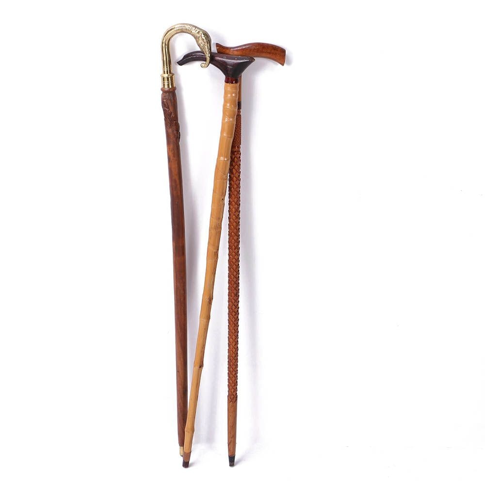 Carved Wooden Canes