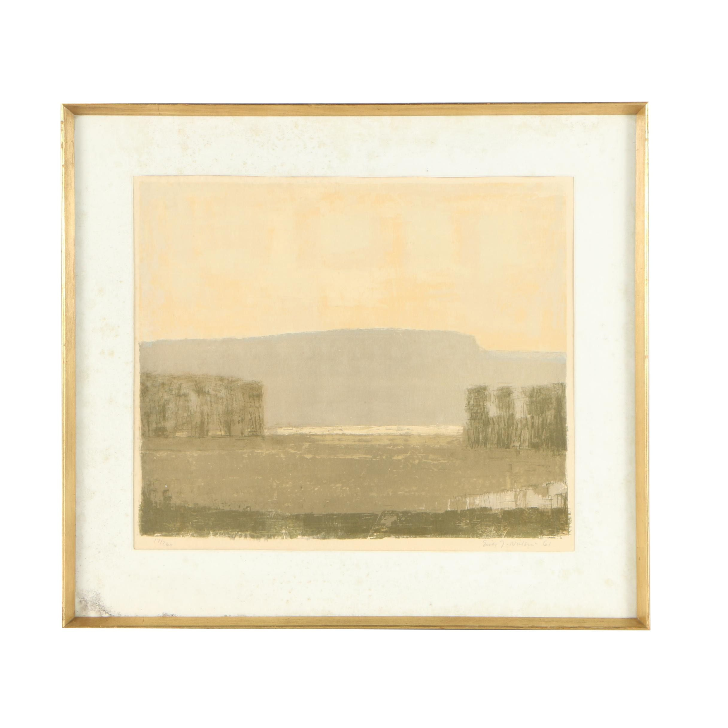 Mid-Late 20th Century Lithograph